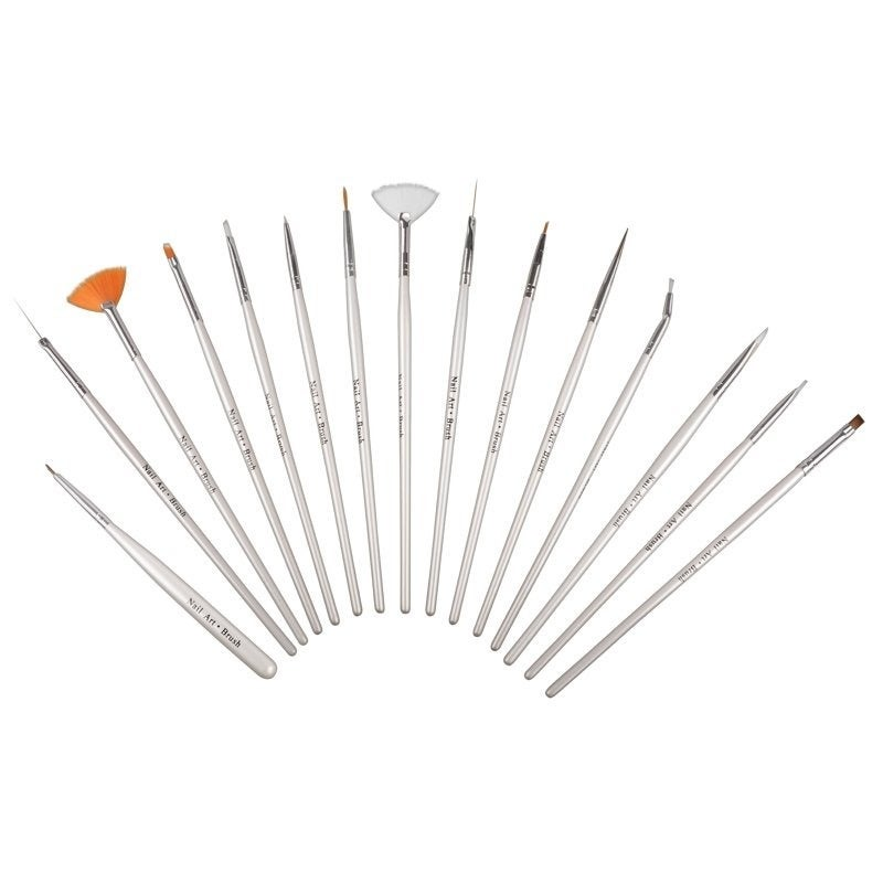 Shop Zodaca Nail Art Design Brush Set Of 15 Free Shipping On