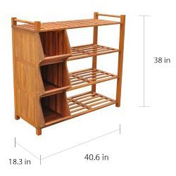 6296809afdab Merry Products Outdoor 4-tier Shoe Rack/ Cubby