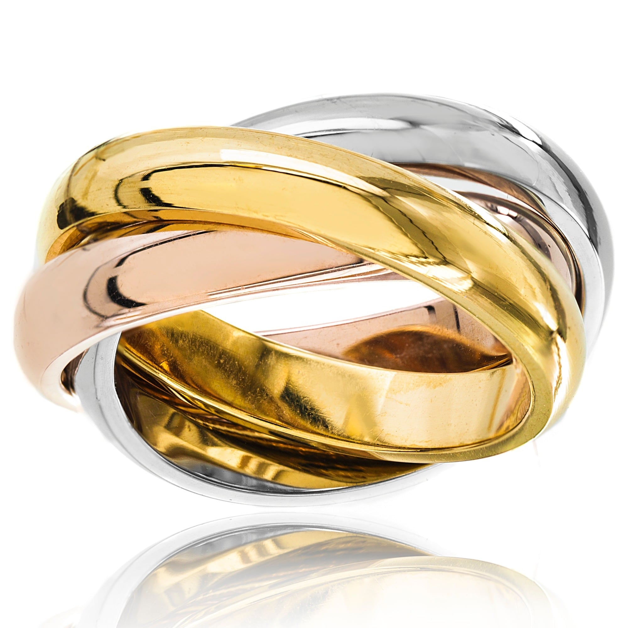 bands colored ring tri products queensalley color gold cartier band
