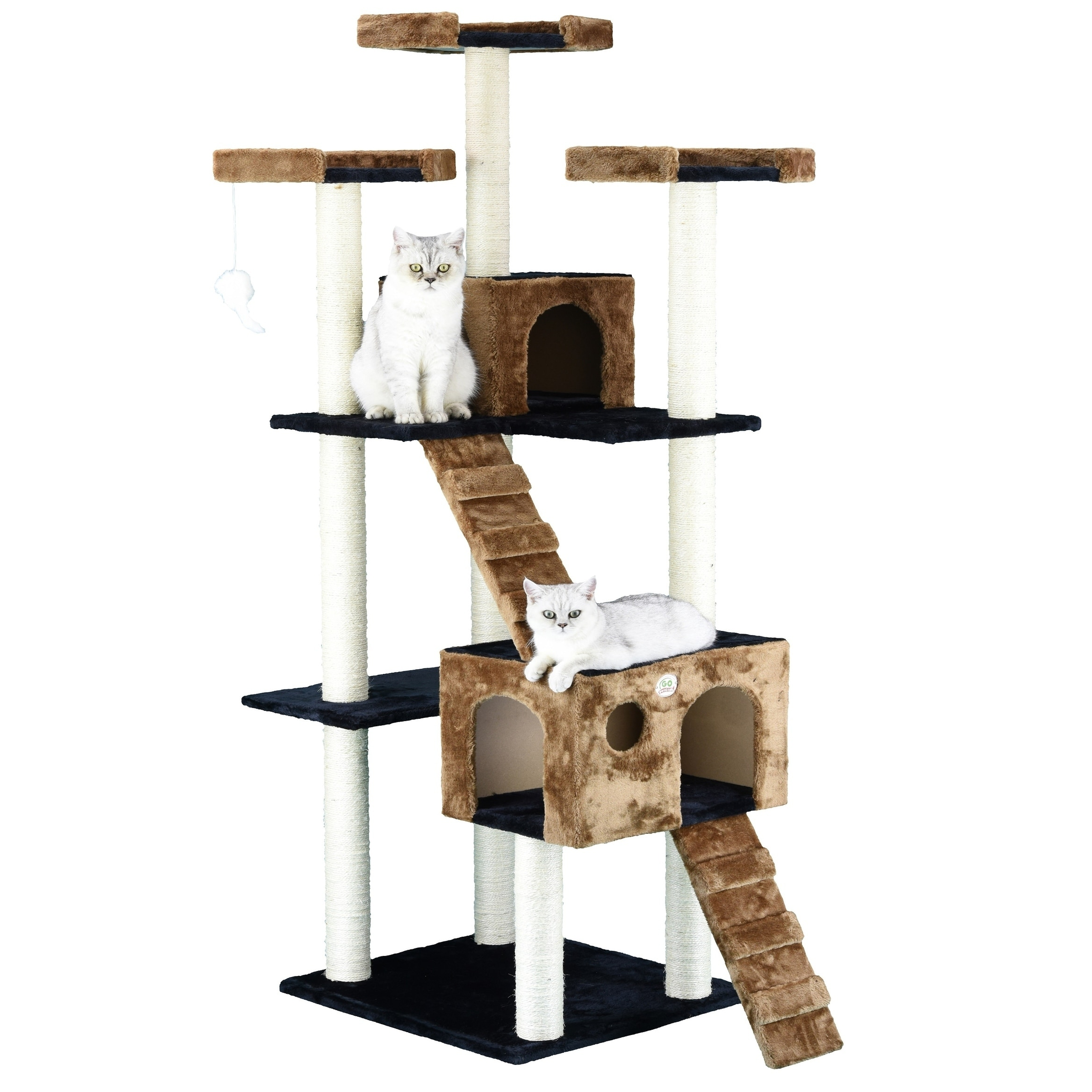 with scratching shipping overstock supplies furniture tree product inch posts free pet today cat