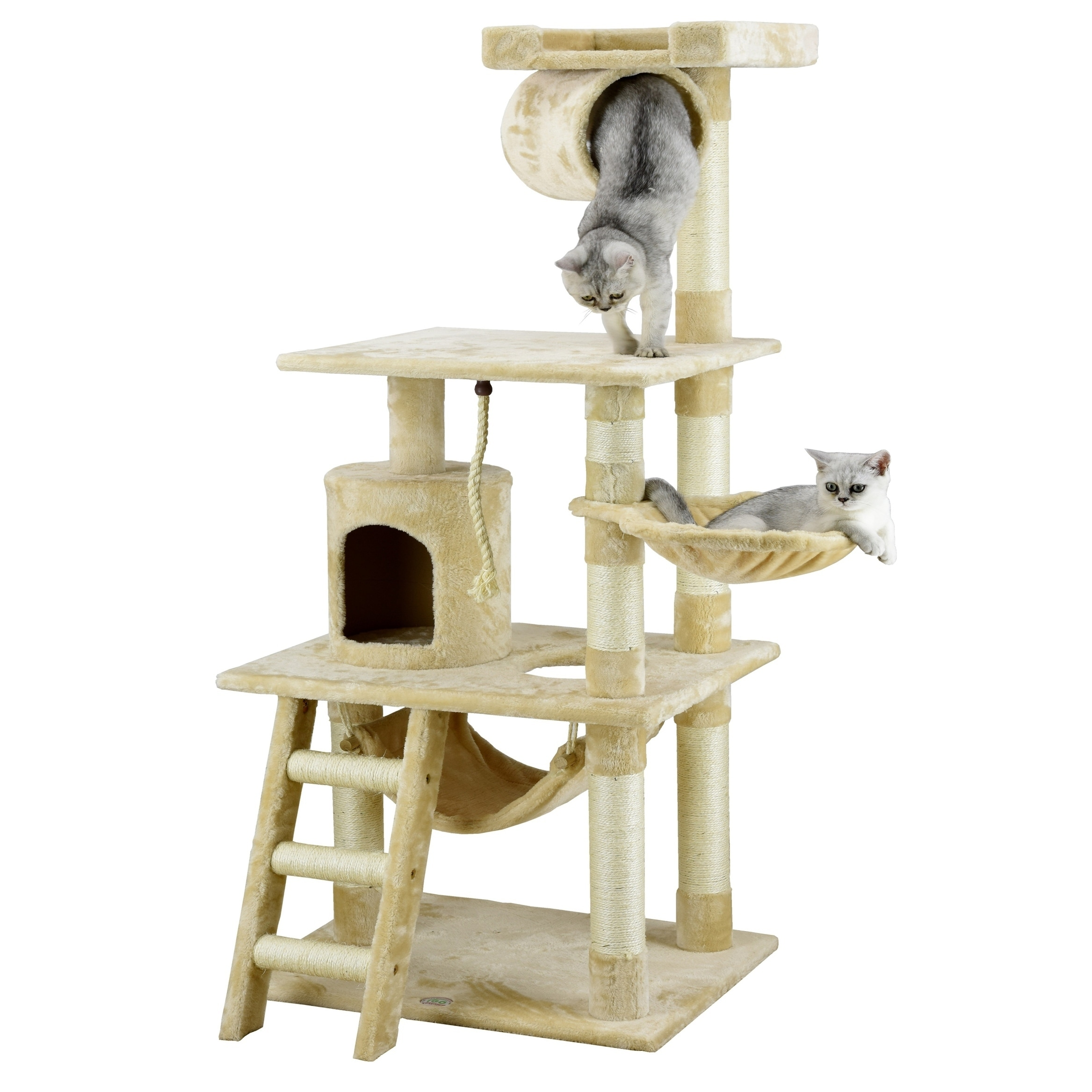 level today cat shipping with model tree inch ivory hammock overstock supplies pet free faux armarkat product fleece