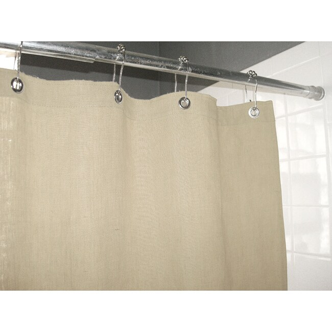 Shop Eco Friendly Natural Hemp Shower Curtain   Free Shipping Today    Overstock.com   6739456