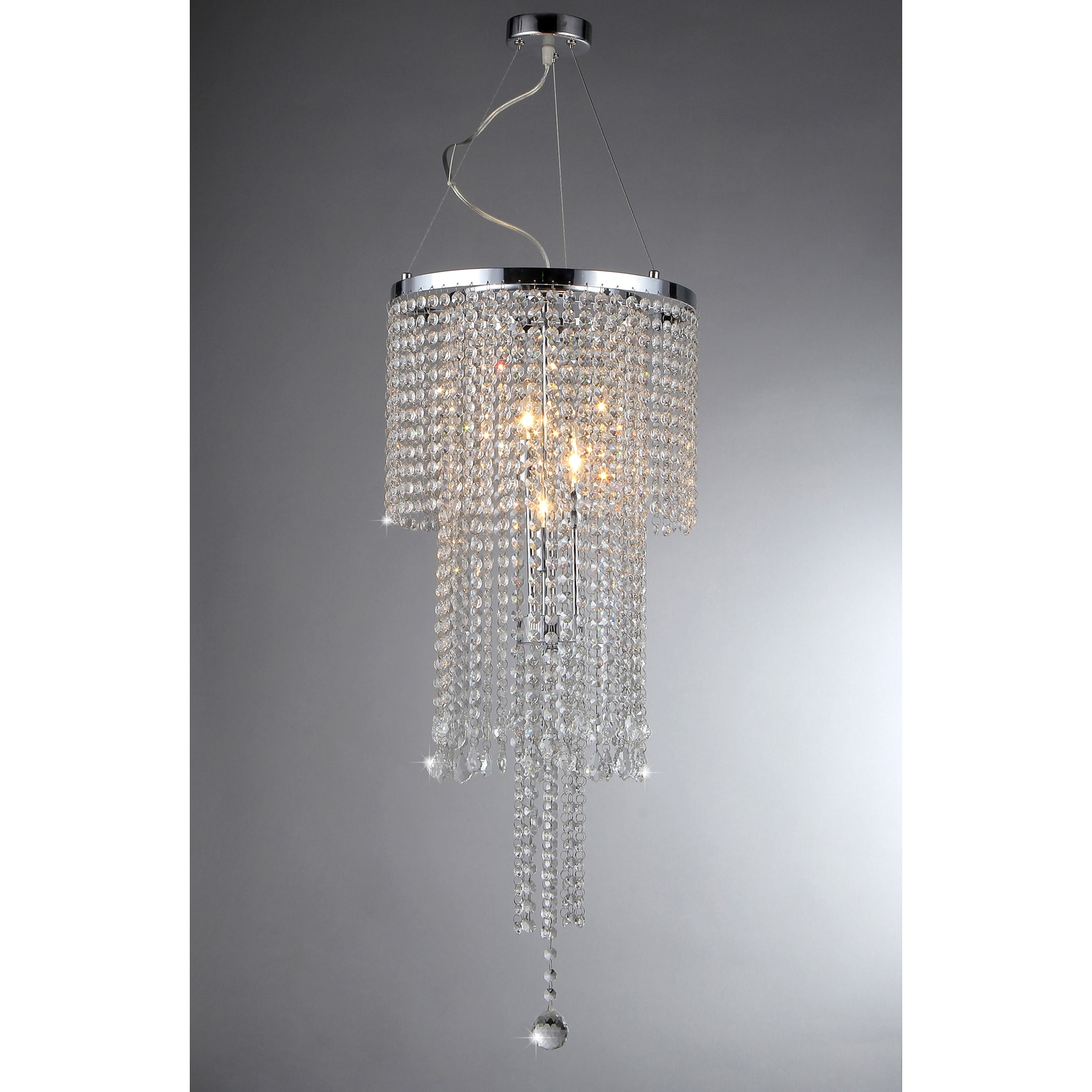 Cascading Crystal Chandelier Free Shipping Today Overstock
