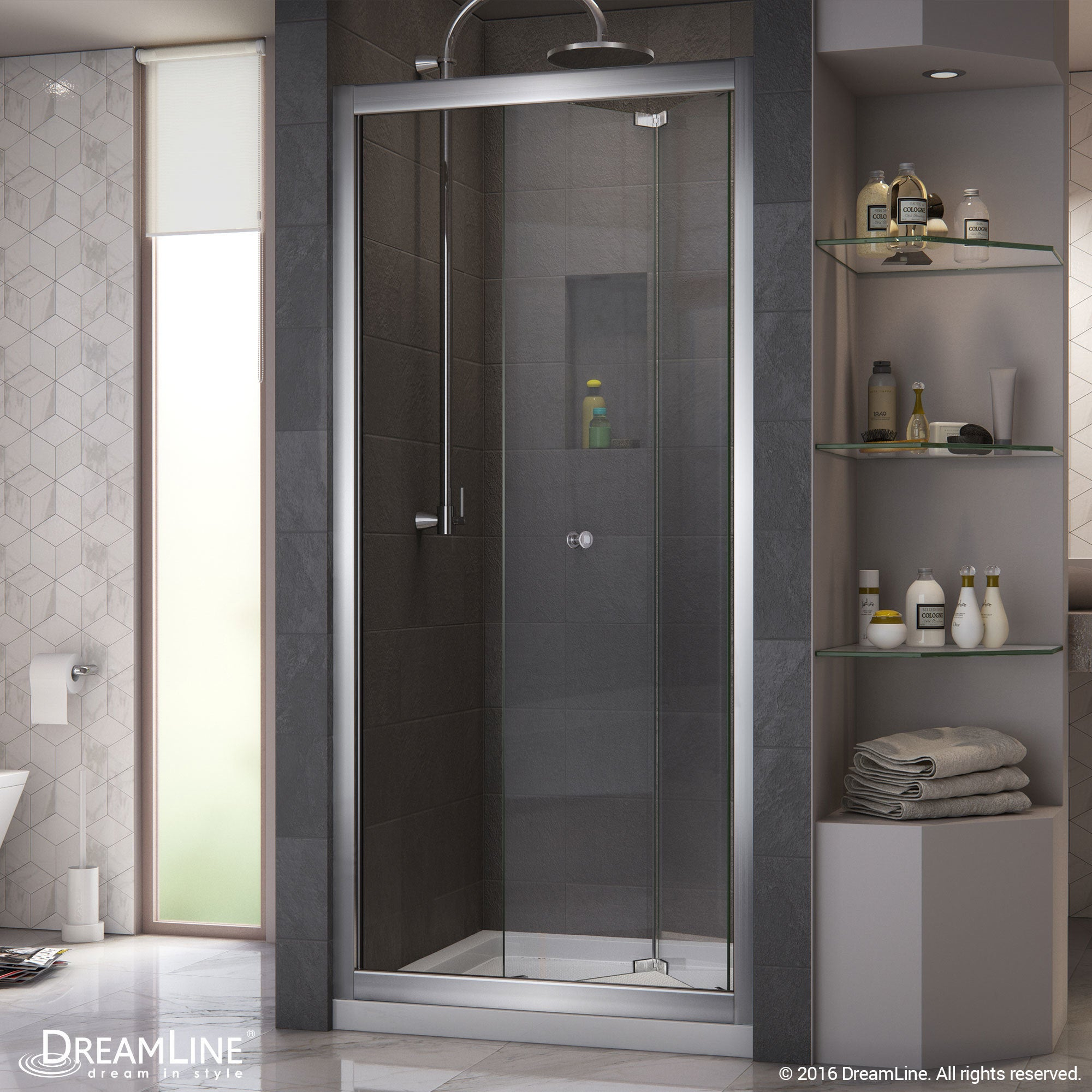 Shop Dreamline Butterfly 34 To 35 12 In Frameless Bi Fold Shower