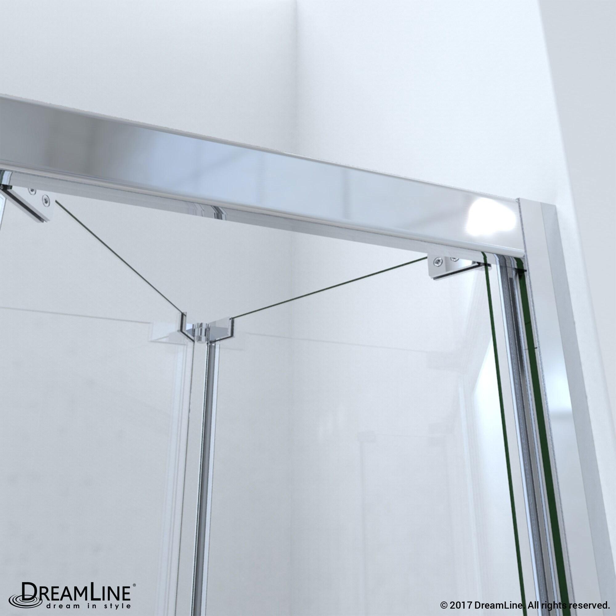 Shop DreamLine Butterfly 34 to 35 1/2 in. Frameless Bi-Fold Shower ...