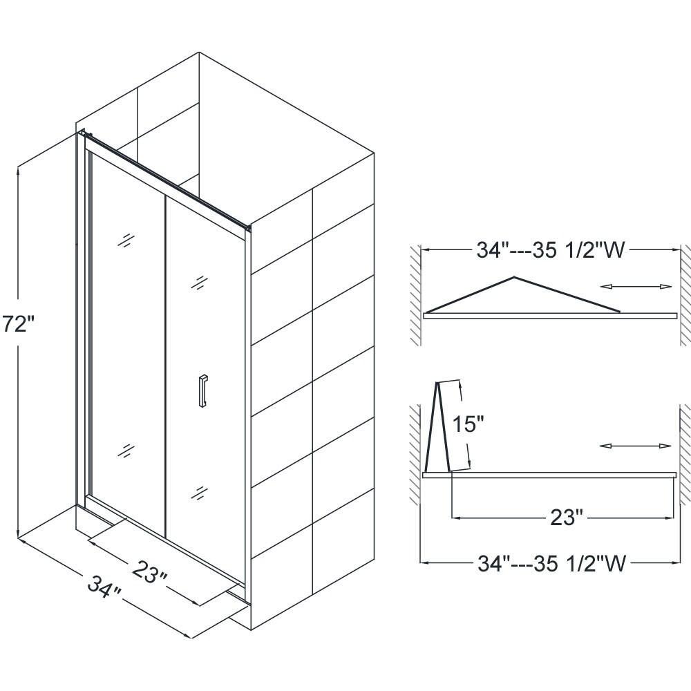 DreamLine Butterfly 34 To 35 1/2 In. Frameless Bi Fold Shower Door   Free  Shipping Today   Overstock.com   14285563