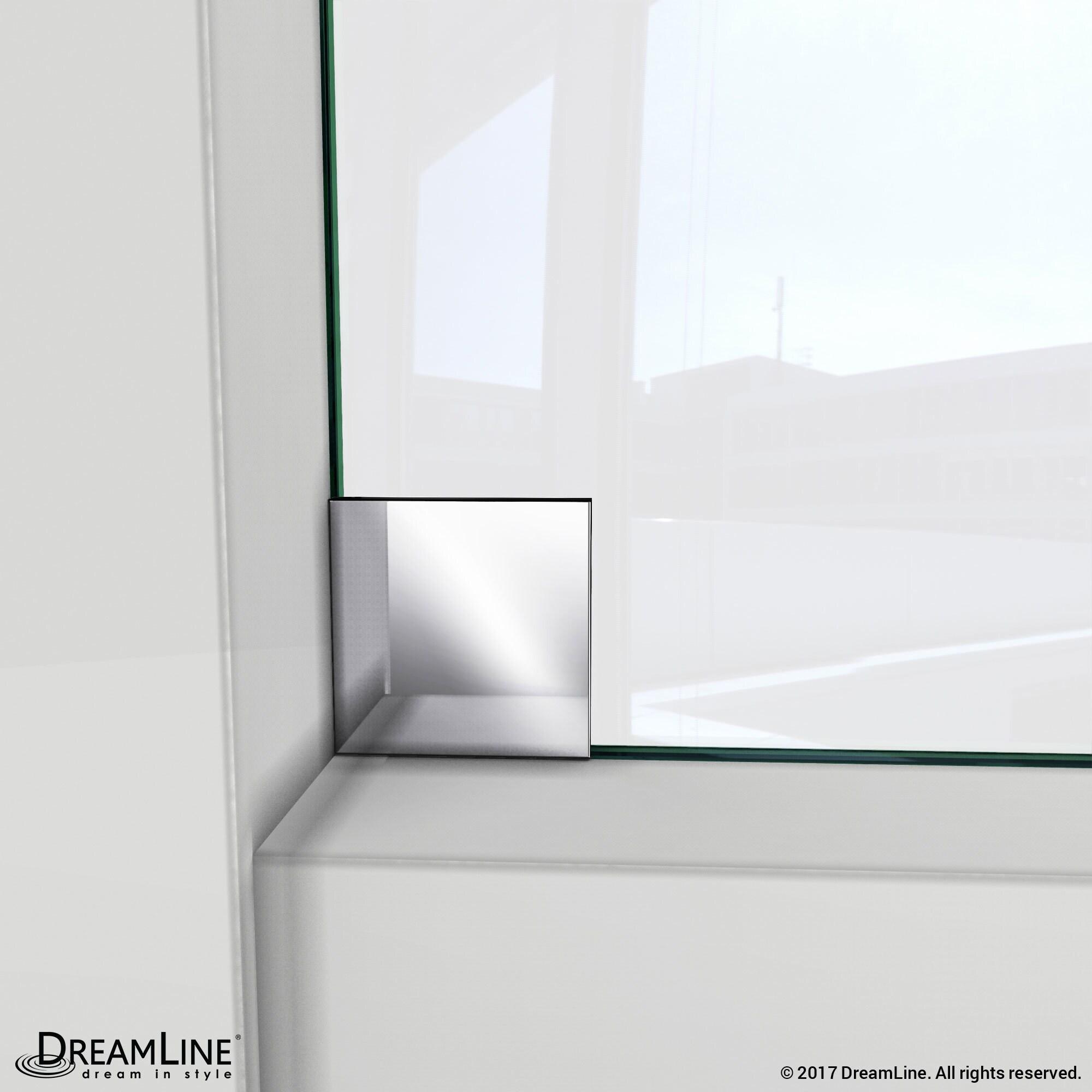 Dreamline Enigma X 56 To 60 In Fully Frameless Sliding Shower Door