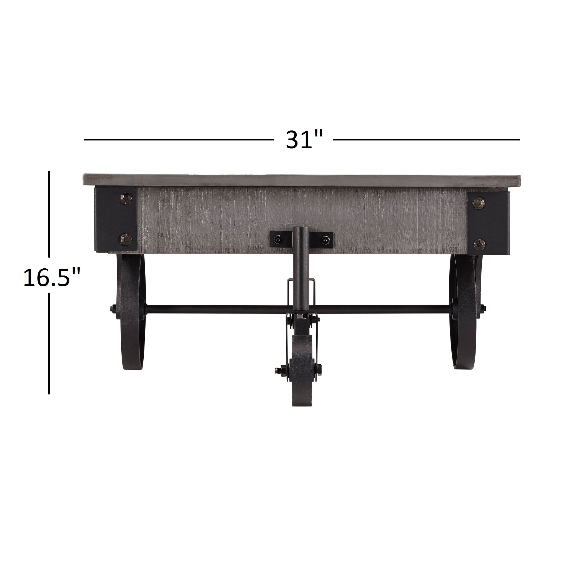 Shop Myra Vintage Industrial Modern Rustic 47 Inch Coffee Table By INSPIRE  Q Classic   On Sale   Free Shipping Today   Overstock.com   6743627