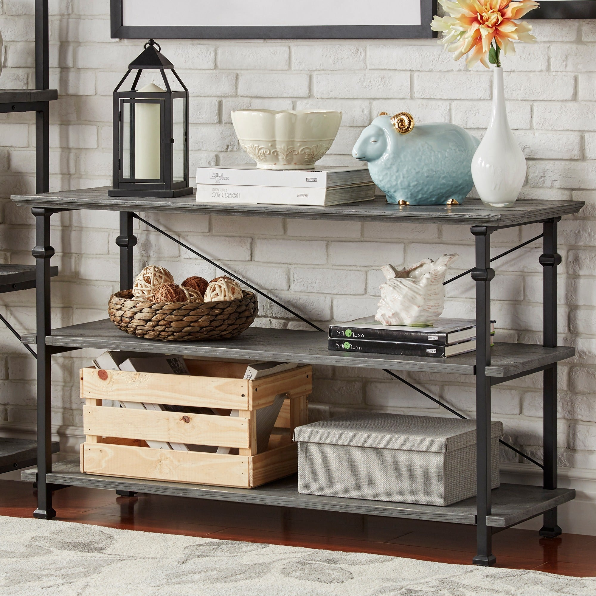 Myra Vintage Industrial TV Stand by iNSPIRE Q Classic - Free Shipping Today  - Overstock.com - 14288173
