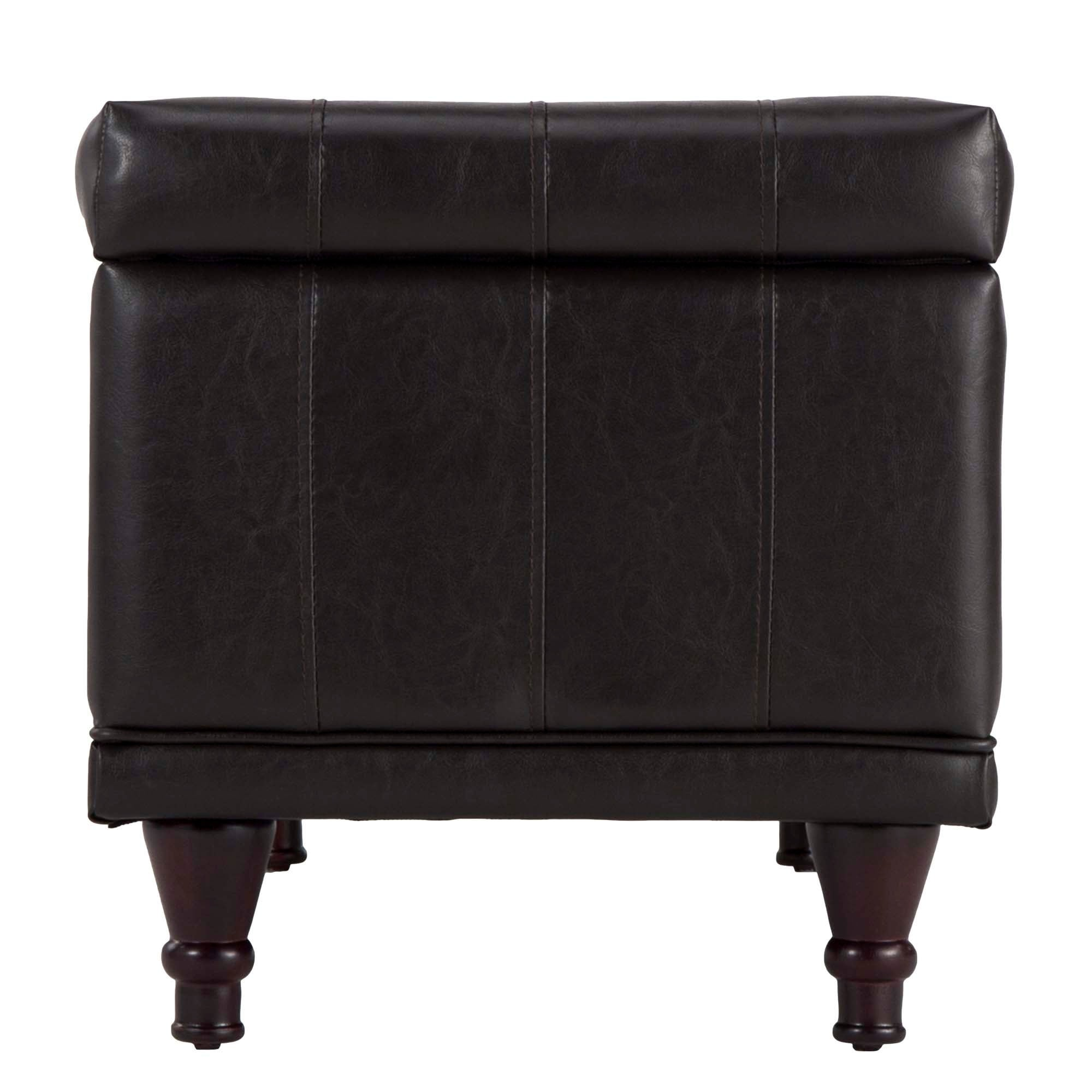 ottoman of essex black free elegant shipping storage luxury faux bench leather wyndenhall