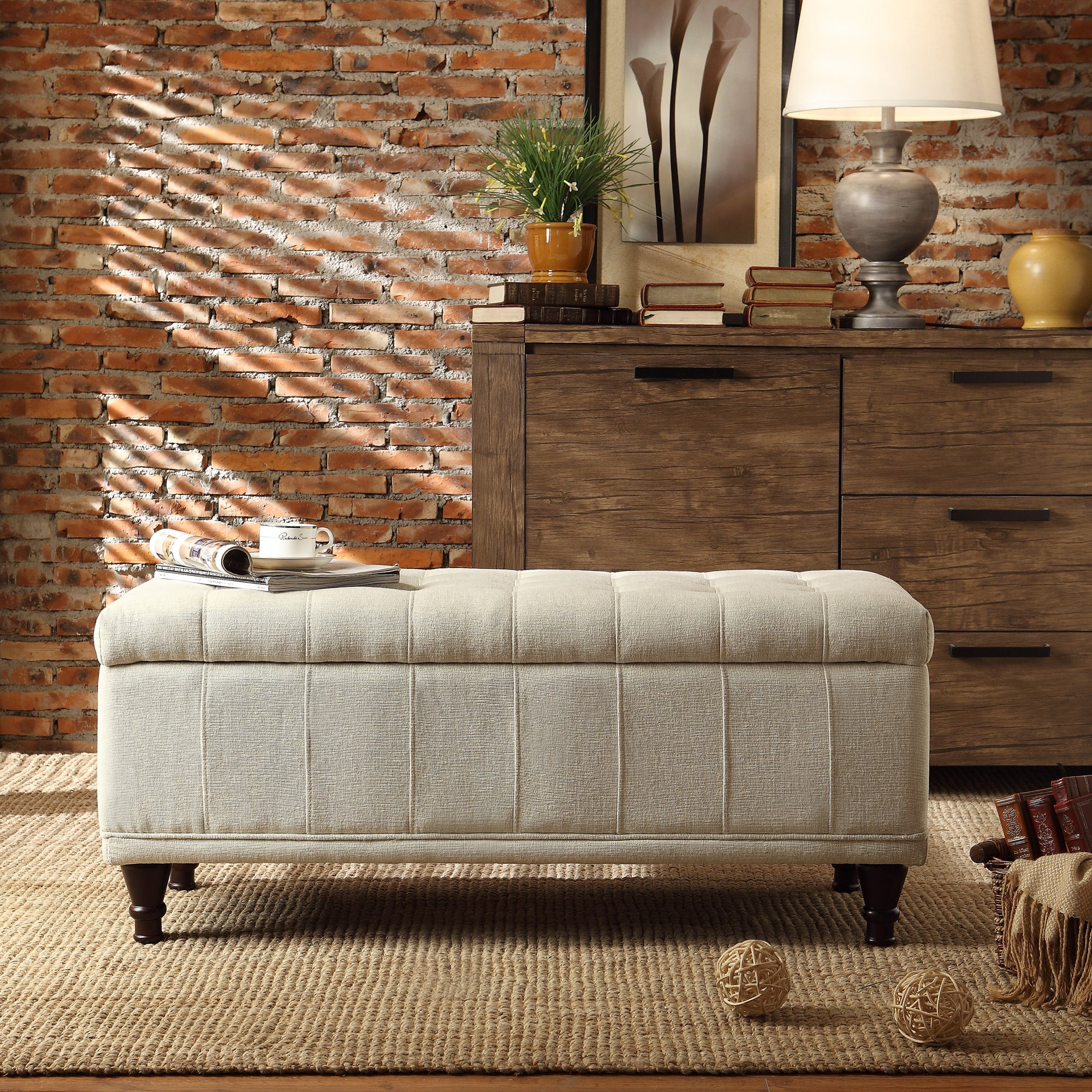 St Ives Lift Top Tufted Storage Bench by iNSPIRE Q Classic - Free Shipping  Today - Overstock.com - 14292575