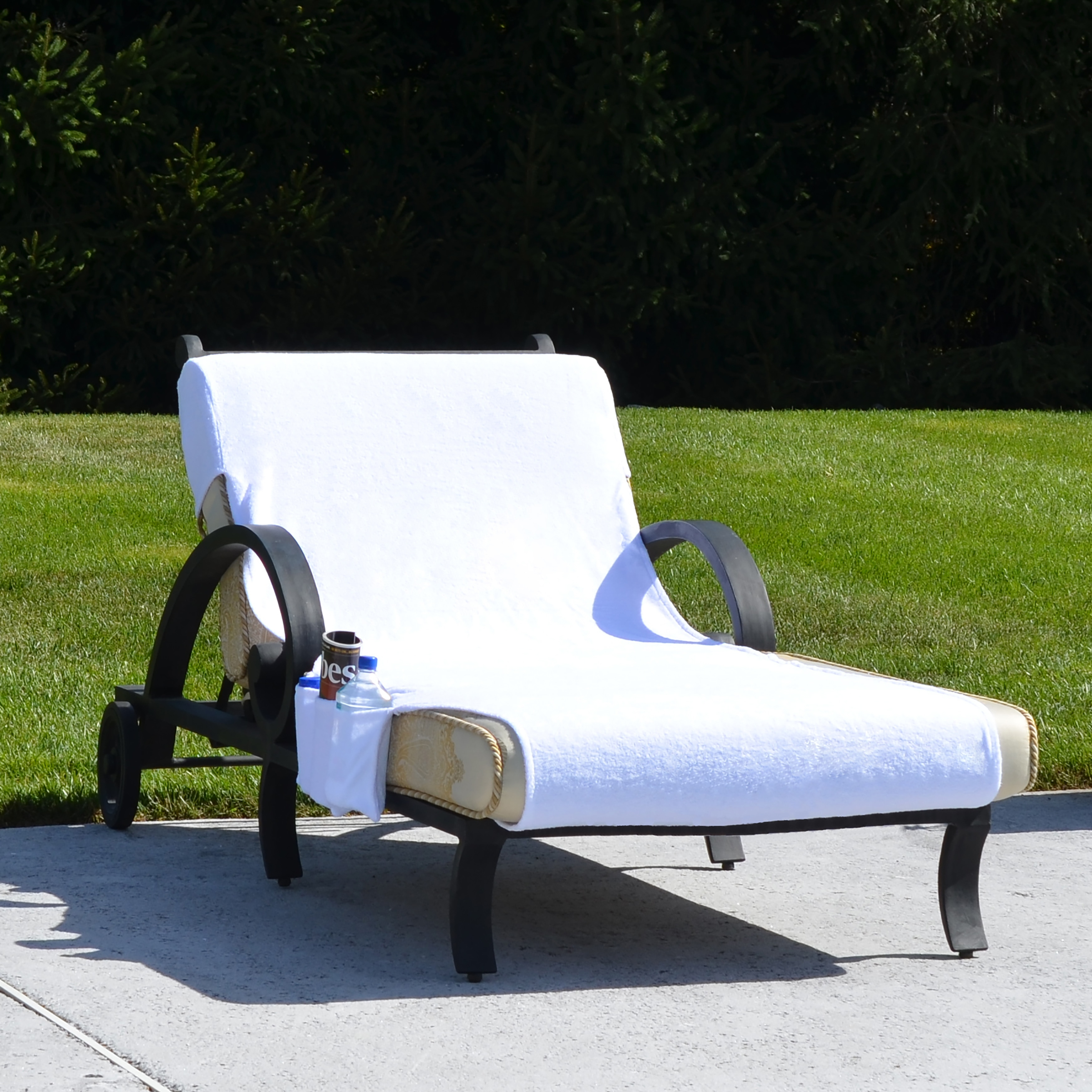 Incroyable Shop Turkish Cotton Standard Chaise Lounge Chair Towel Cover With Pockets    Free Shipping On Orders Over $45   Overstock.com   6751405