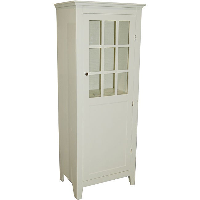 Shop Simple Living Antique White Tall Bathroom Linen Cabinet - Free  Shipping Today - Overstock.com - 6753277 - Shop Simple Living Antique White Tall Bathroom Linen Cabinet - Free