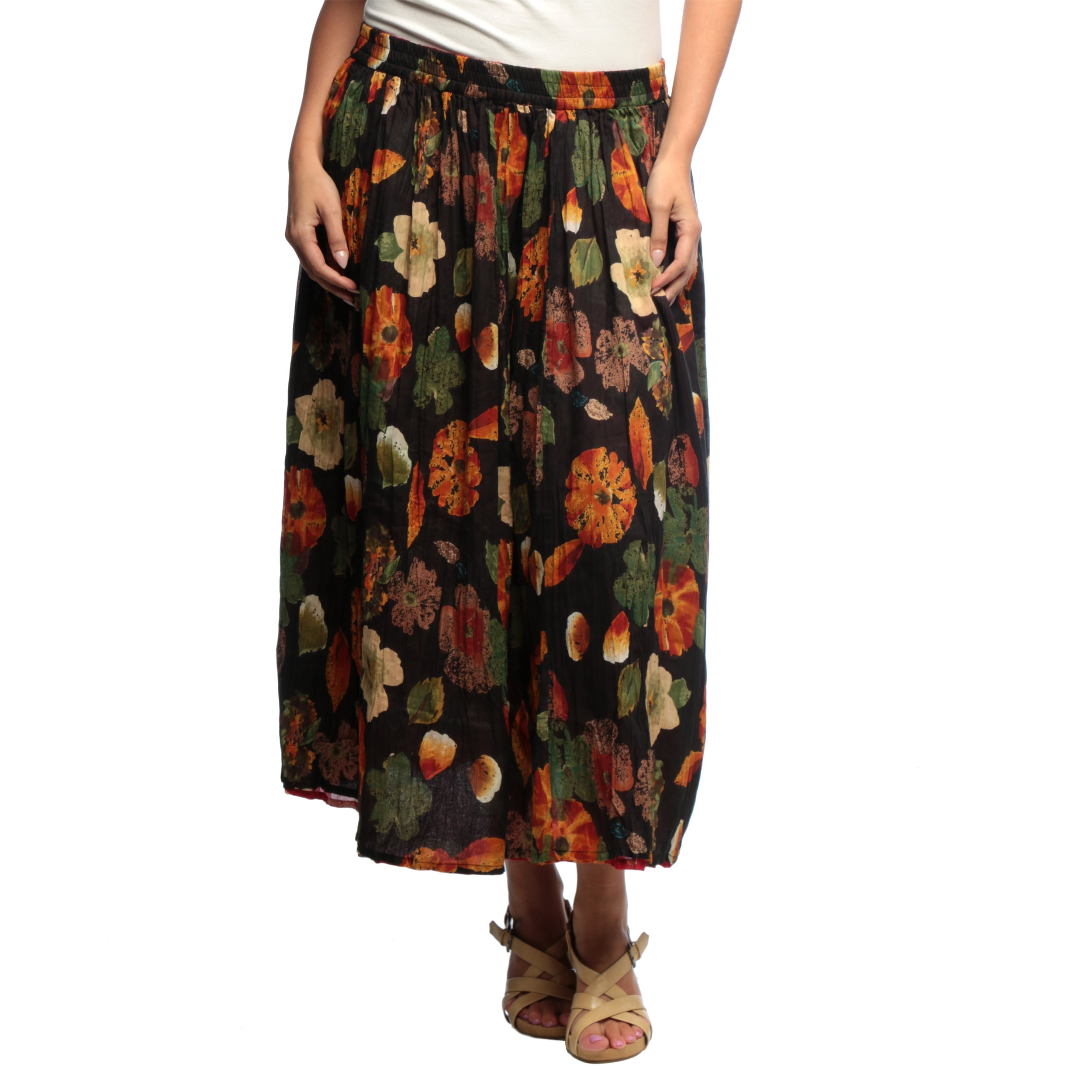 b72654e3a4f Shop La Cera Women s Plus Size Reversible Printed Broomstick Skirt - Free  Shipping On Orders Over  45 - Overstock - 6753308