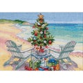 "Gold Collection Petite Christmas On The Beach Counted Cross -7""X5"""