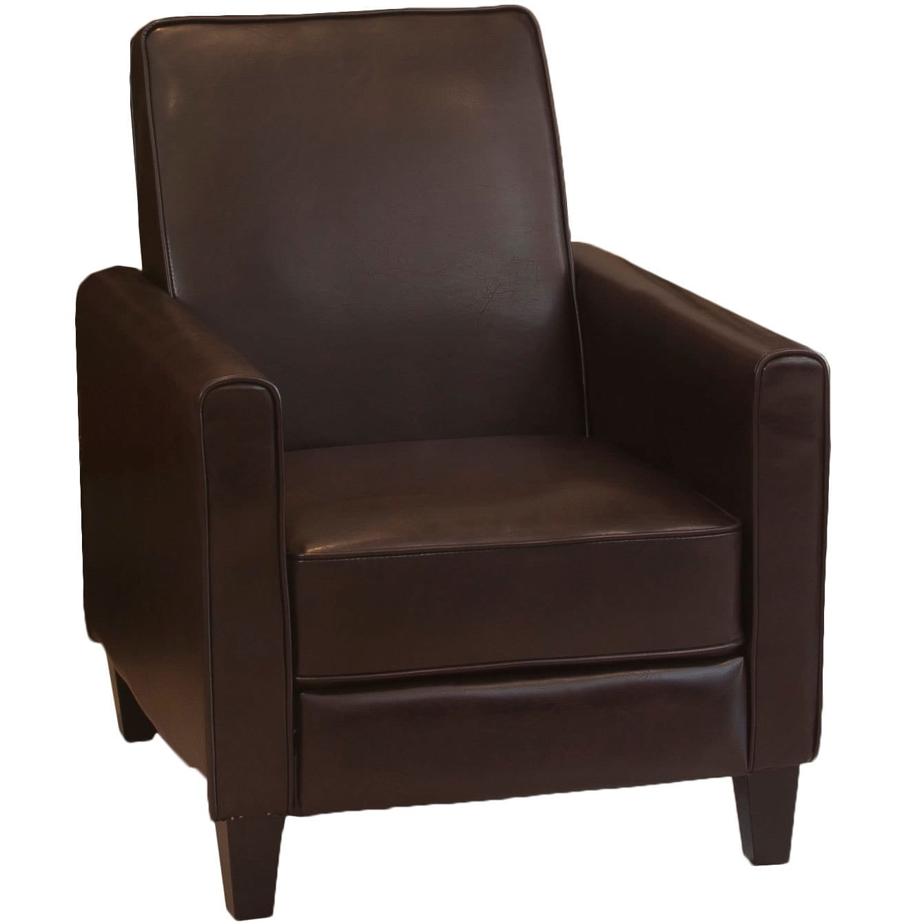 Charming Shop Darvis Brown Bonded Leather Recliner Club Chair By Christopher Knight  Home   Free Shipping Today   Overstock.com   6756900