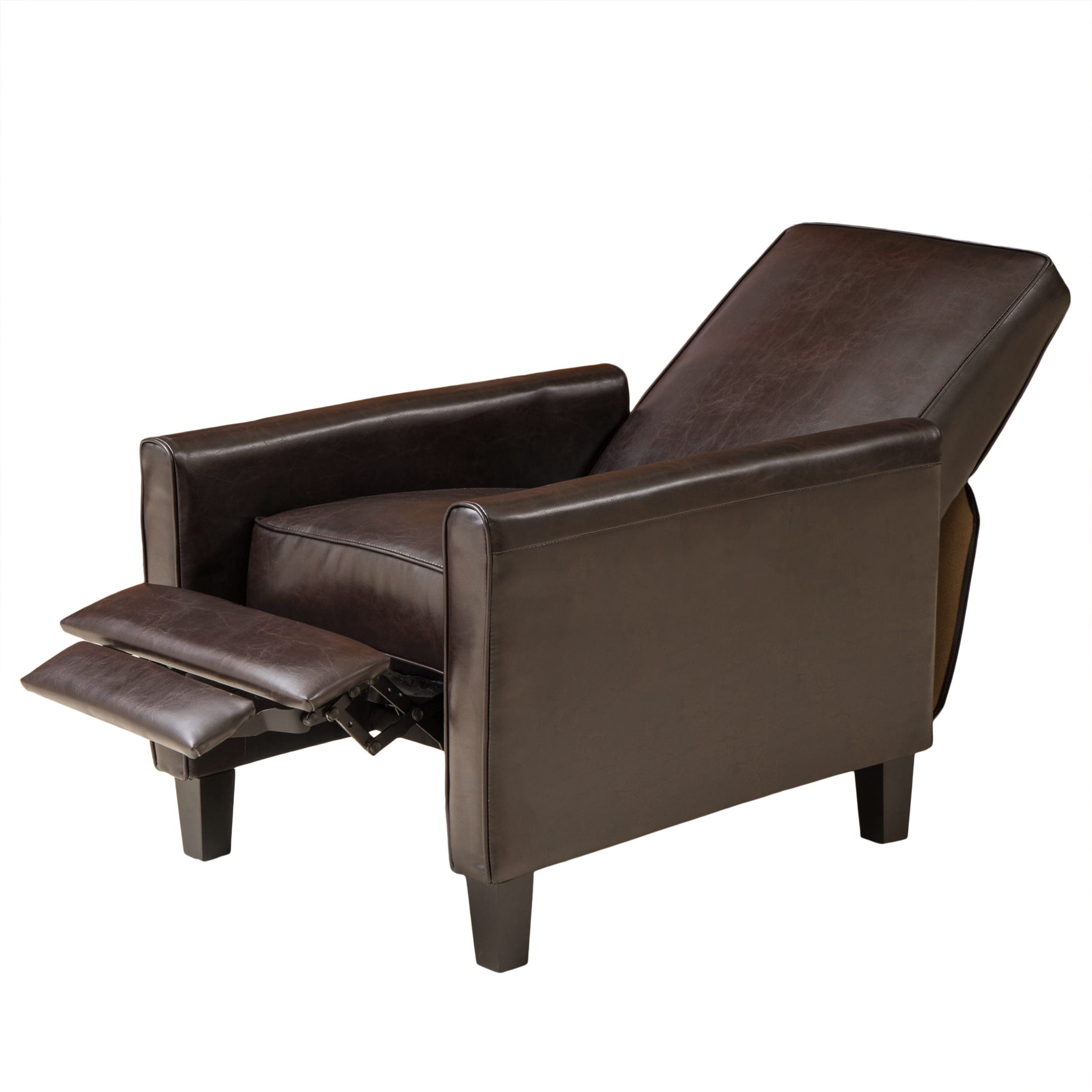 Shop Darvis Brown Bonded Leather Recliner Club Chair by Christopher Knight Home - On Sale - Free Shipping Today - Overstock.com - 6756900  sc 1 st  Overstock.com & Shop Darvis Brown Bonded Leather Recliner Club Chair by Christopher ...