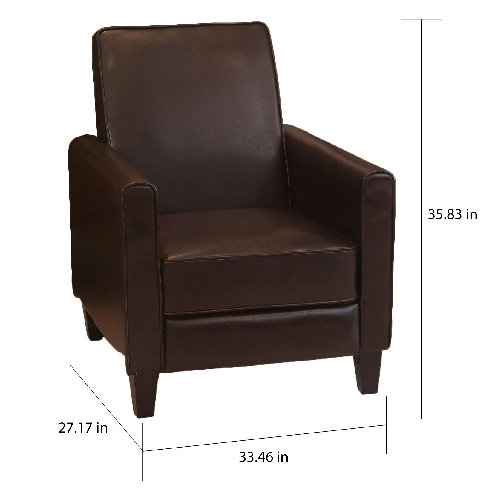 Shop Darvis Brown Bonded Leather Recliner Club Chair By Christopher Knight  Home   Free Shipping Today   Overstock.com   6756900