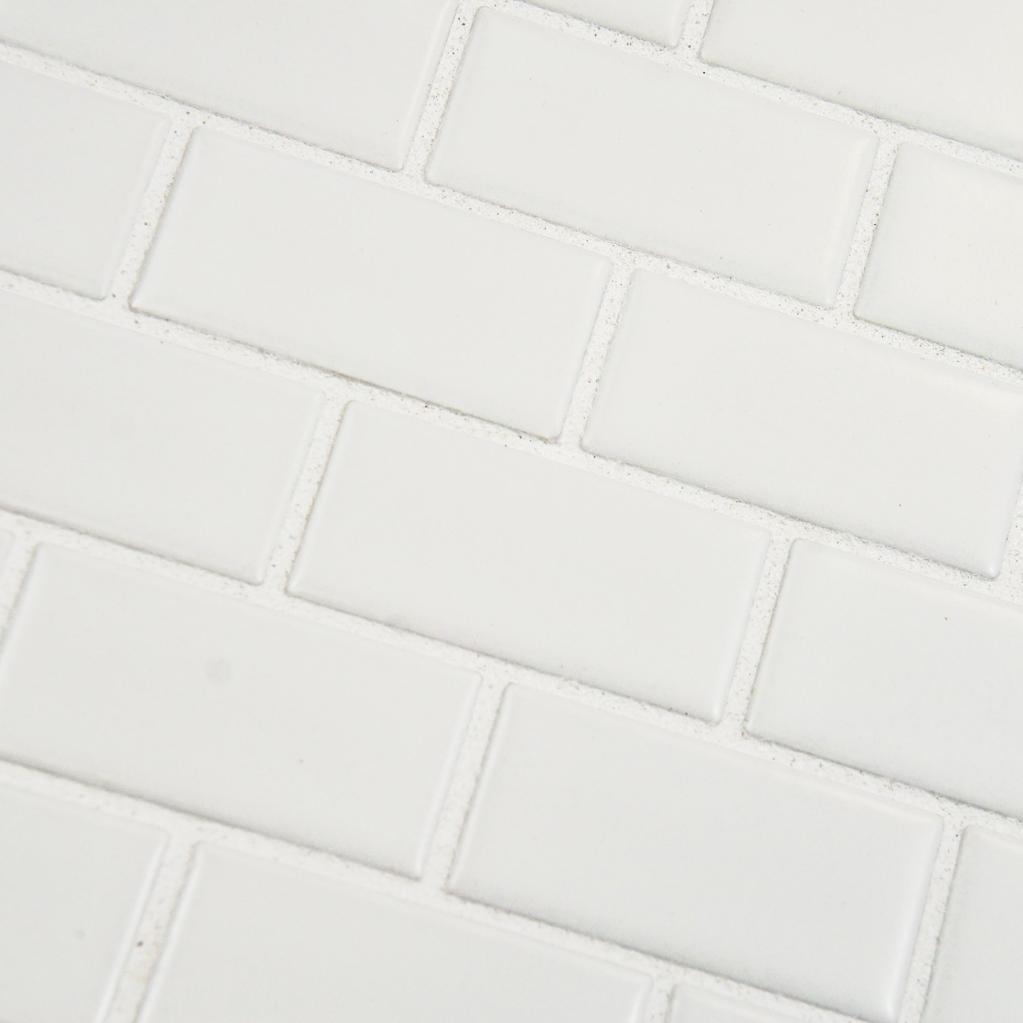 Somertile 11 75x11 75 Inch Victorian Subway Matte White Porcelain Mosaic Floor And Wall Tile 10 Tiles 9 6 Sqft Free Shipping Today