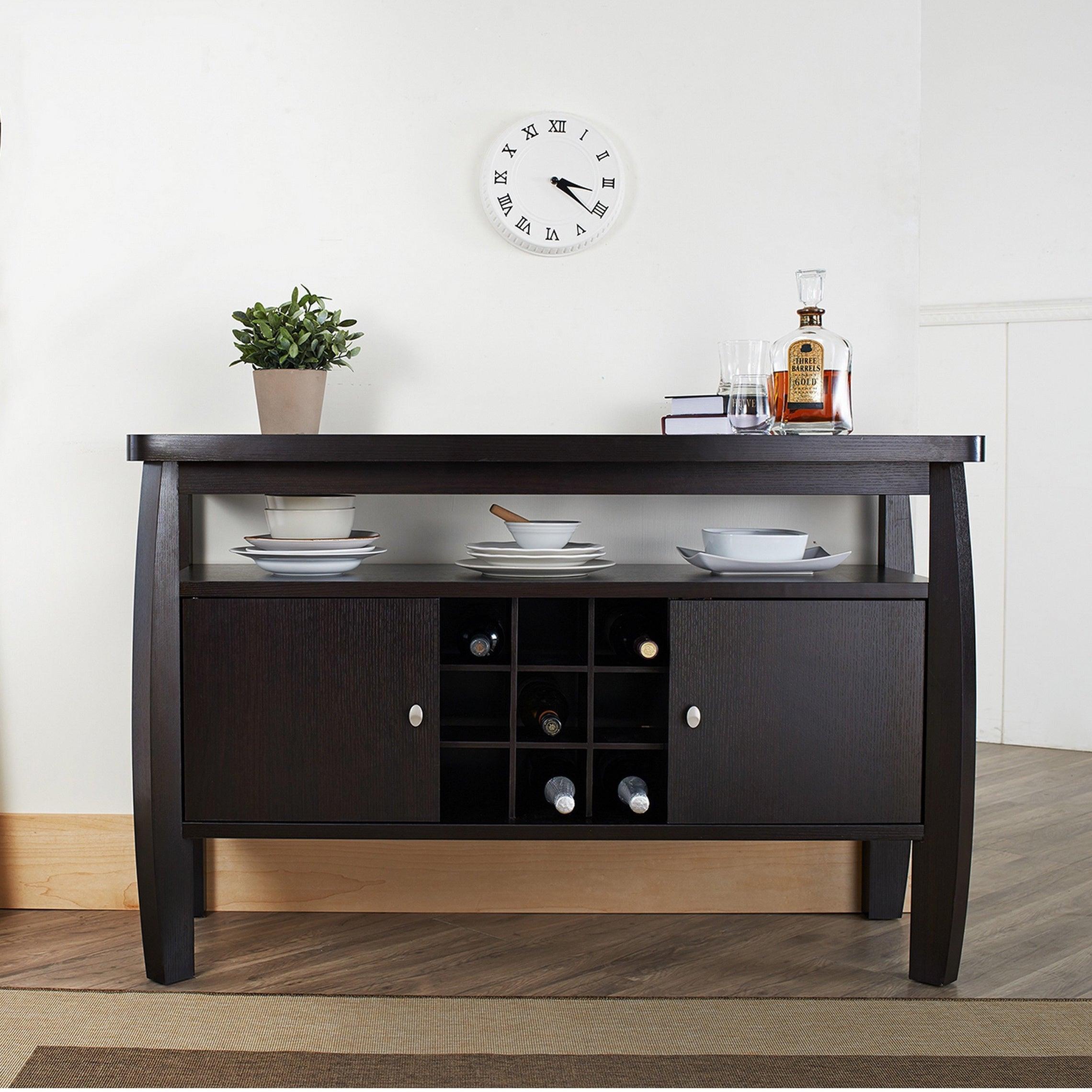 Shop Furniture Of America Zarina Dark Espresso Buffet Table   On Sale    Free Shipping Today   Overstock.com   6765447