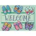"Welcome Mat Mini Counted Cross Stitch Kit-7""X5"""