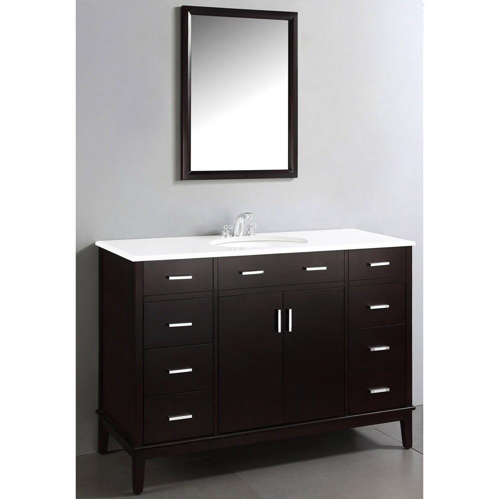 wyndenhall oxford dark espresso brown inch bathroom vanity with whitequartz marble top  free shipping today  overstockcom  . wyndenhall oxford dark espresso brown inch bathroom vanity with