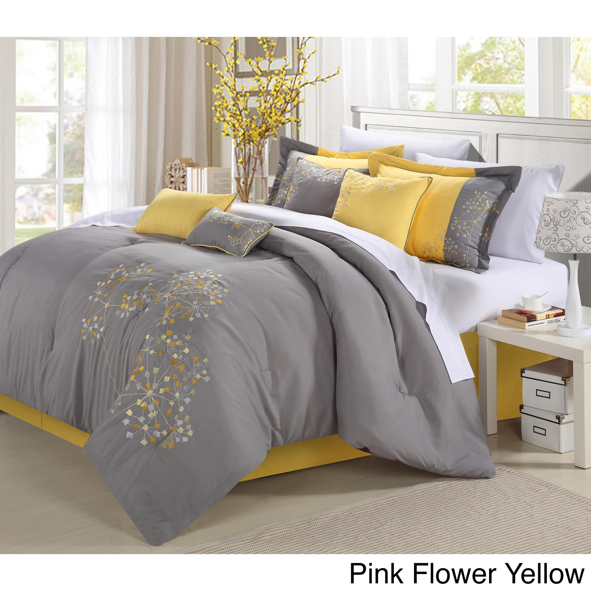 Floral 8 piece comforter set free shipping today overstock floral 8 piece comforter set free shipping today overstock 14313854 mightylinksfo Image collections