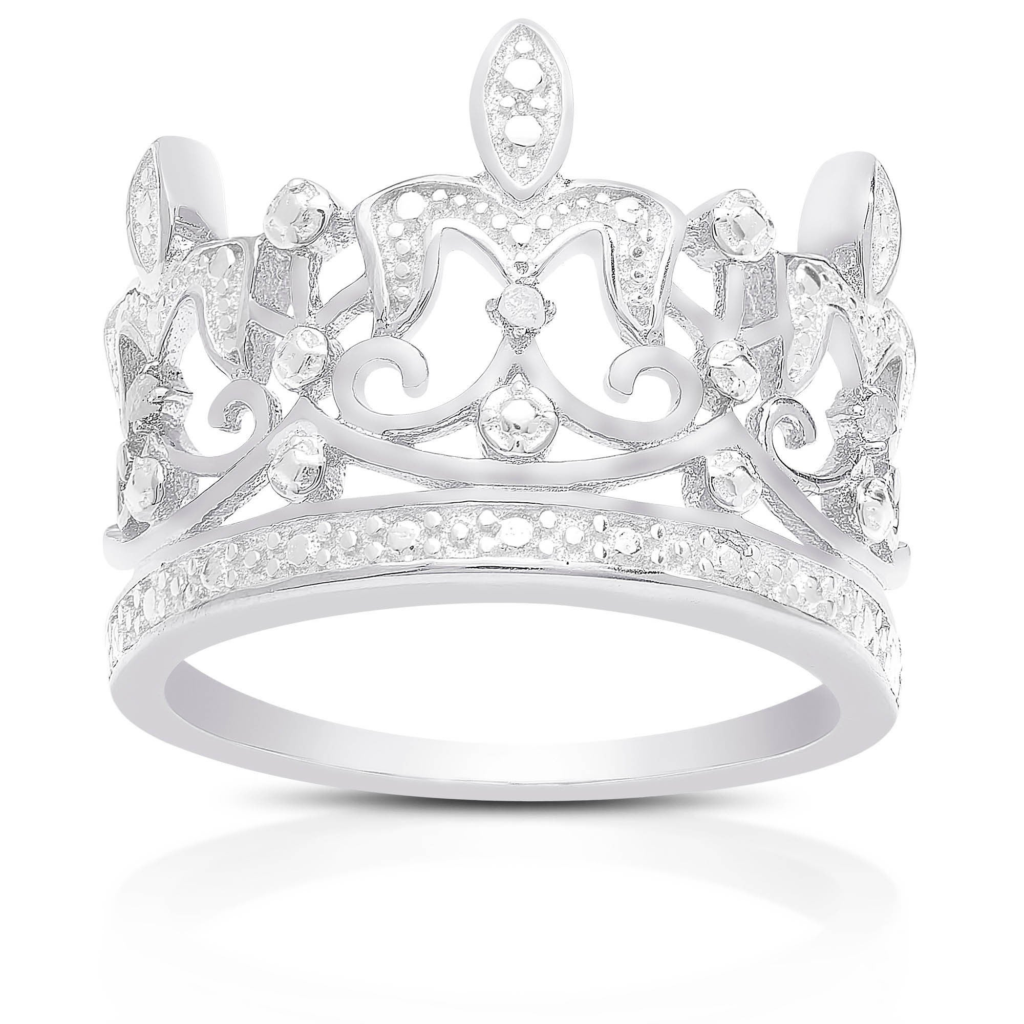 ring rose product white wedding gold rings diamond crown