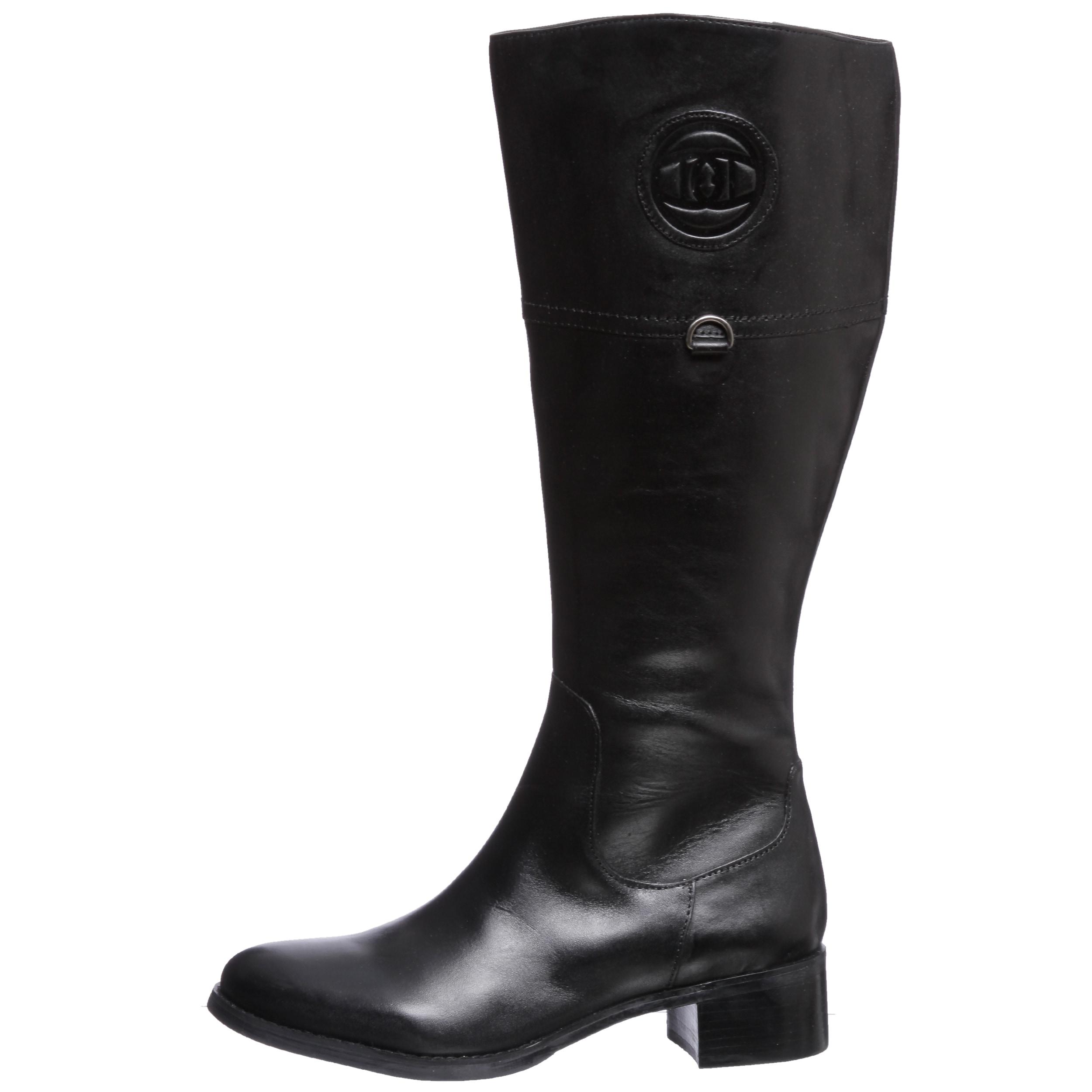 79c918ea06fd9 Shop Etienne Aigner  Chastity  Black Leather Riding Boots - Free ...