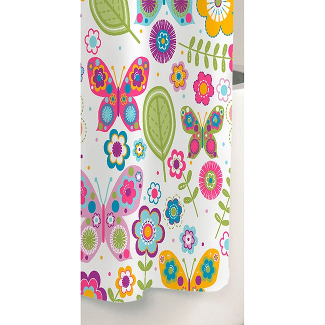 Butterfly Printed Cotton Shower Curtain - Free Shipping On Orders ...