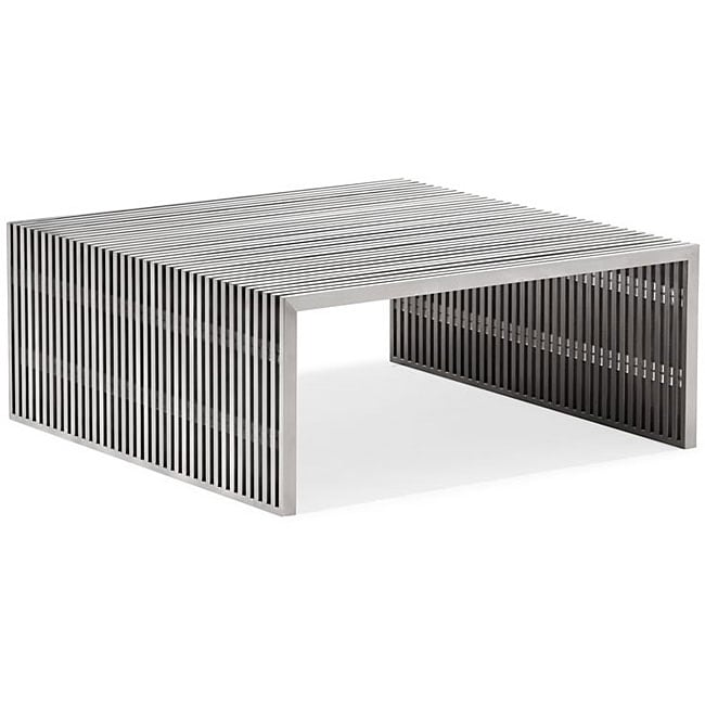Novel Square Stainless Steel Coffee Table Free Shipping Today 6787592