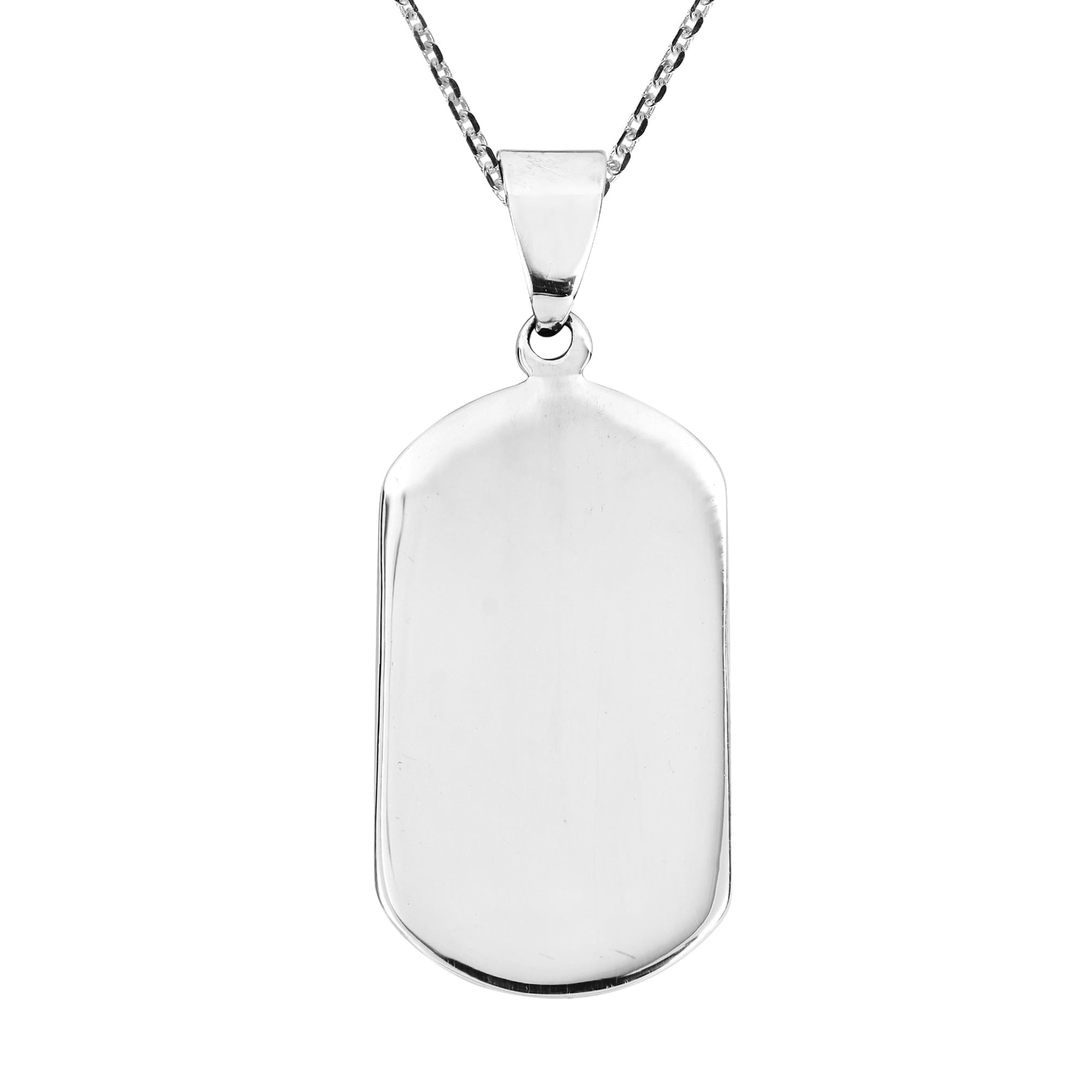 Shop handmade be yourself 925 sterling silver dog tag pendant shop handmade be yourself 925 sterling silver dog tag pendant necklace thailand on sale free shipping on orders over 45 overstock 6790134 solutioingenieria Image collections