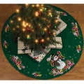 "Candy Snowman Tree Skirt Felt Applique Kit-43"" Round"