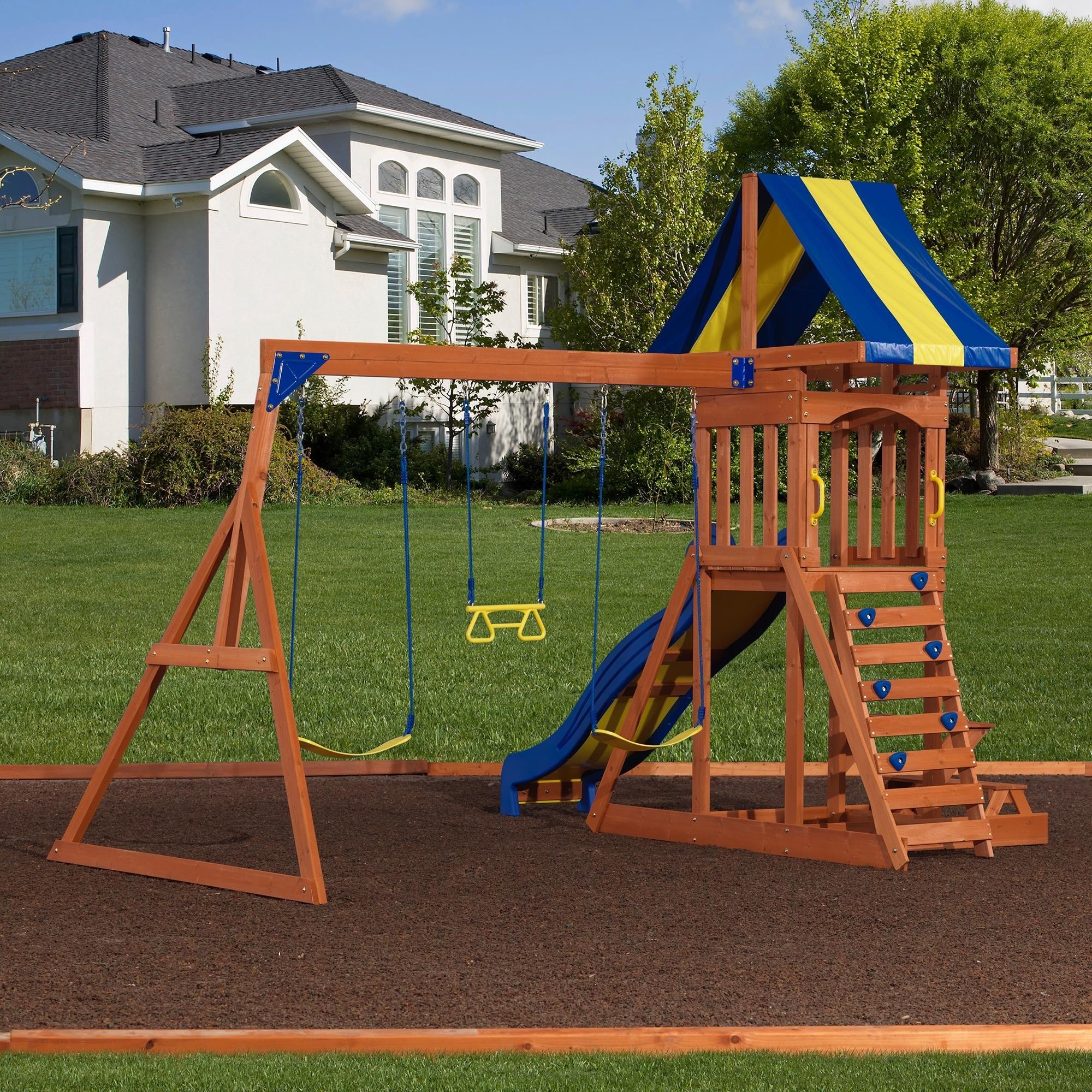 Backyard Discovery Providence Cedar Swingset with Sandbox - Free Shipping  Today - Overstock.com - 14335248