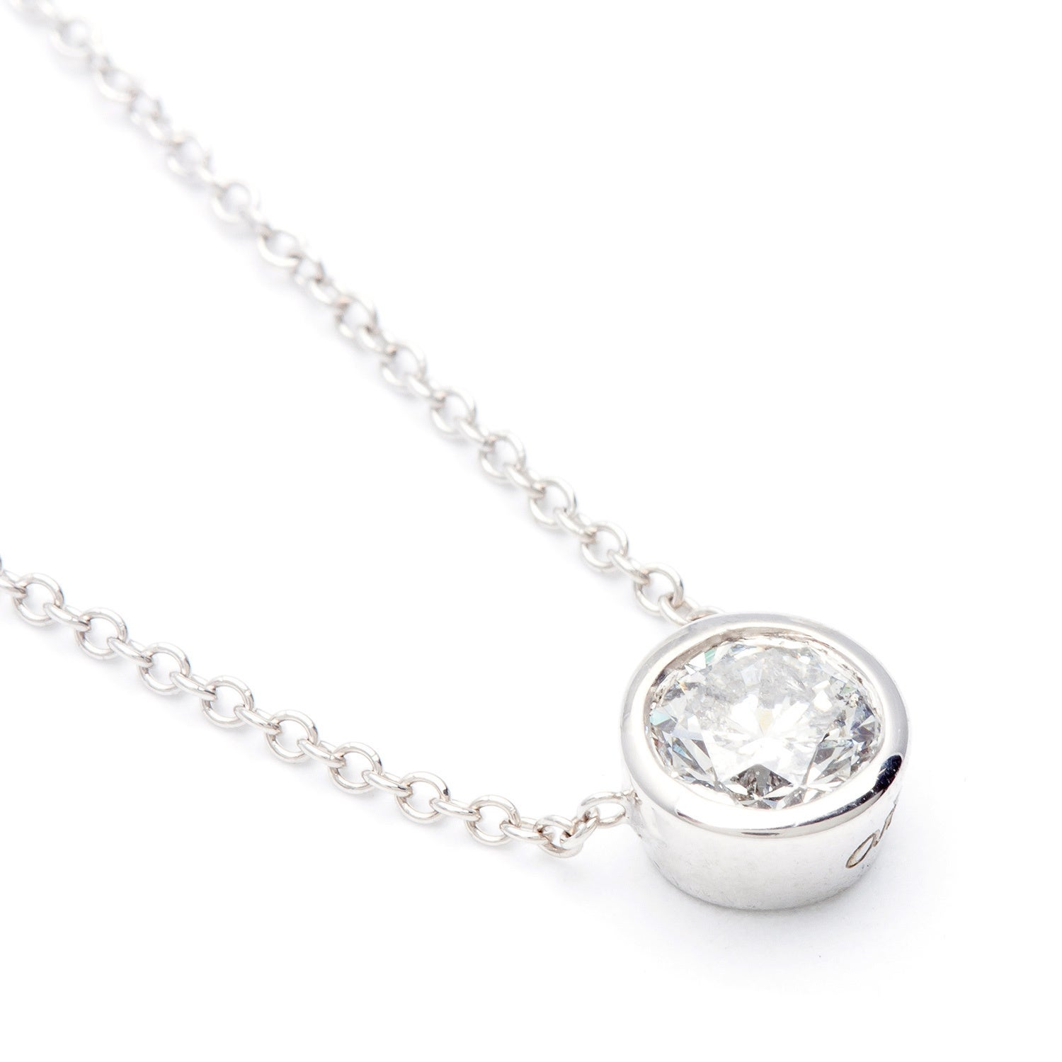 diamond necklace solitaire pendants charms shop white state gold necklaces