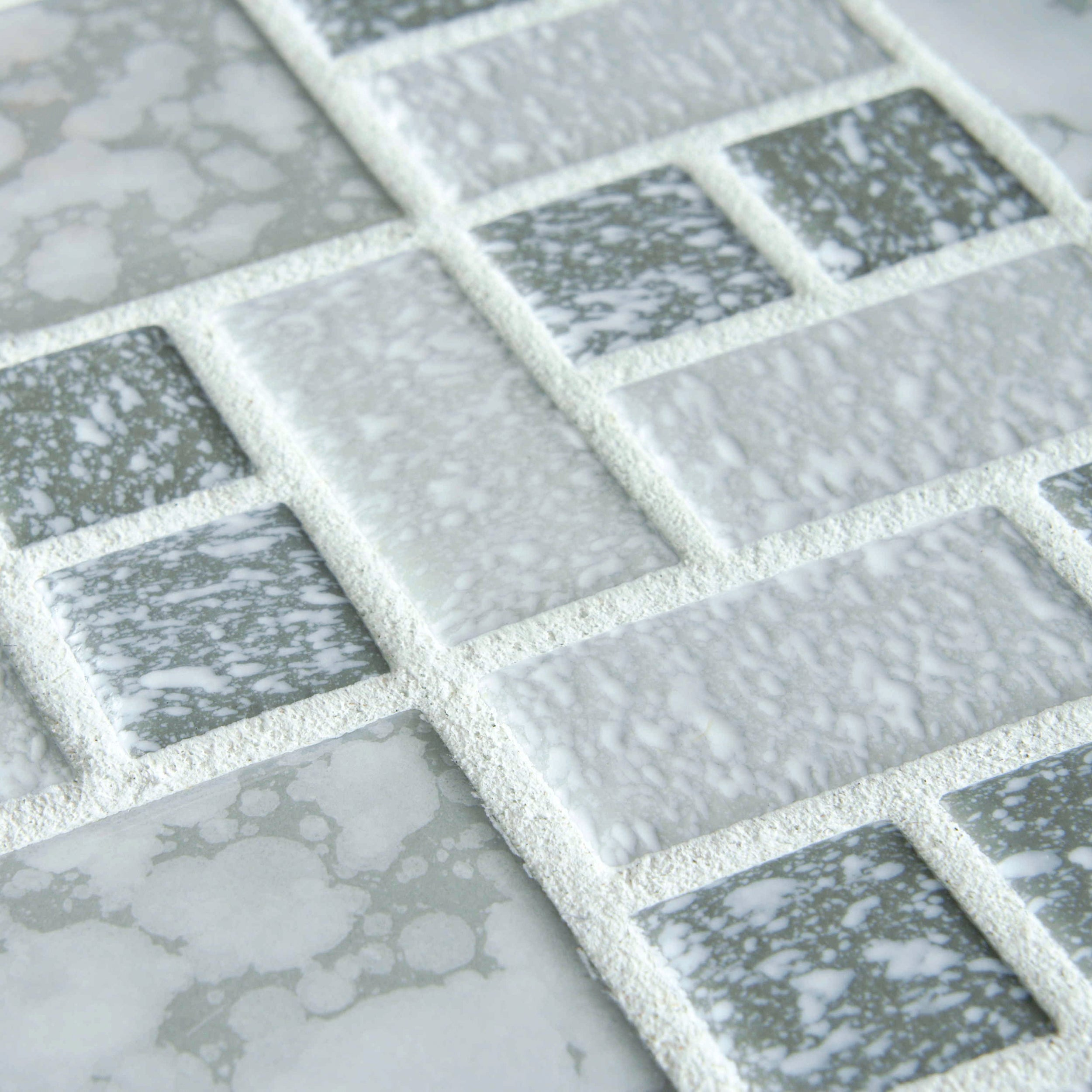 Shop SomerTile 11.75x11.75-inch Academy Light Grey Porcelain Mosaic ...