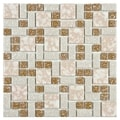 SomerTile 11.75x11.75-inch Academy Beige Porcelain Mosaic Floor and Wall Tile (Case of 10)