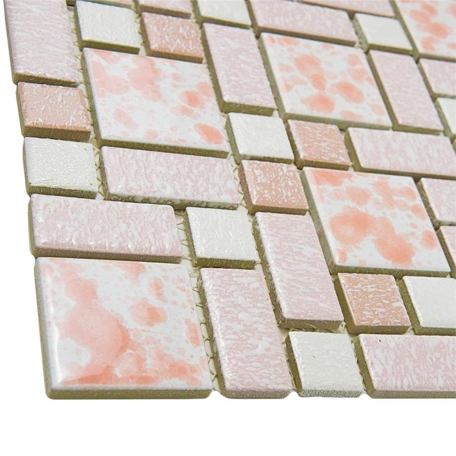 Somertile 1175x1175 inch academy pink porcelain mosaic floor and somertile 1175x1175 inch academy pink porcelain mosaic floor and wall tile 10 tiles962 sqft free shipping today overstock 14337922 dailygadgetfo Gallery