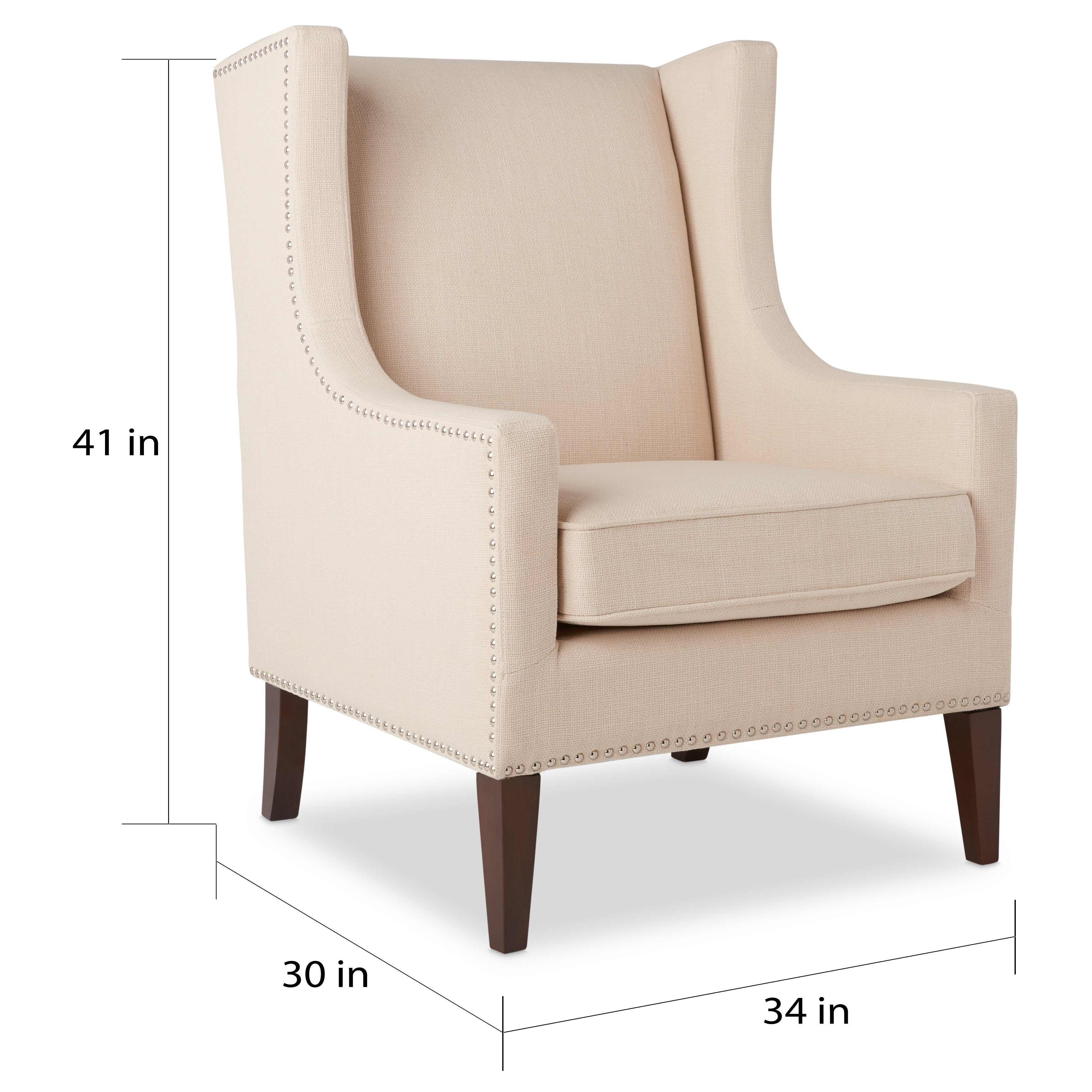 Shop Stones U0026 Stripes Whitmore Lindy Wingback Chair   On Sale   Free  Shipping Today   Overstock.com   6804280