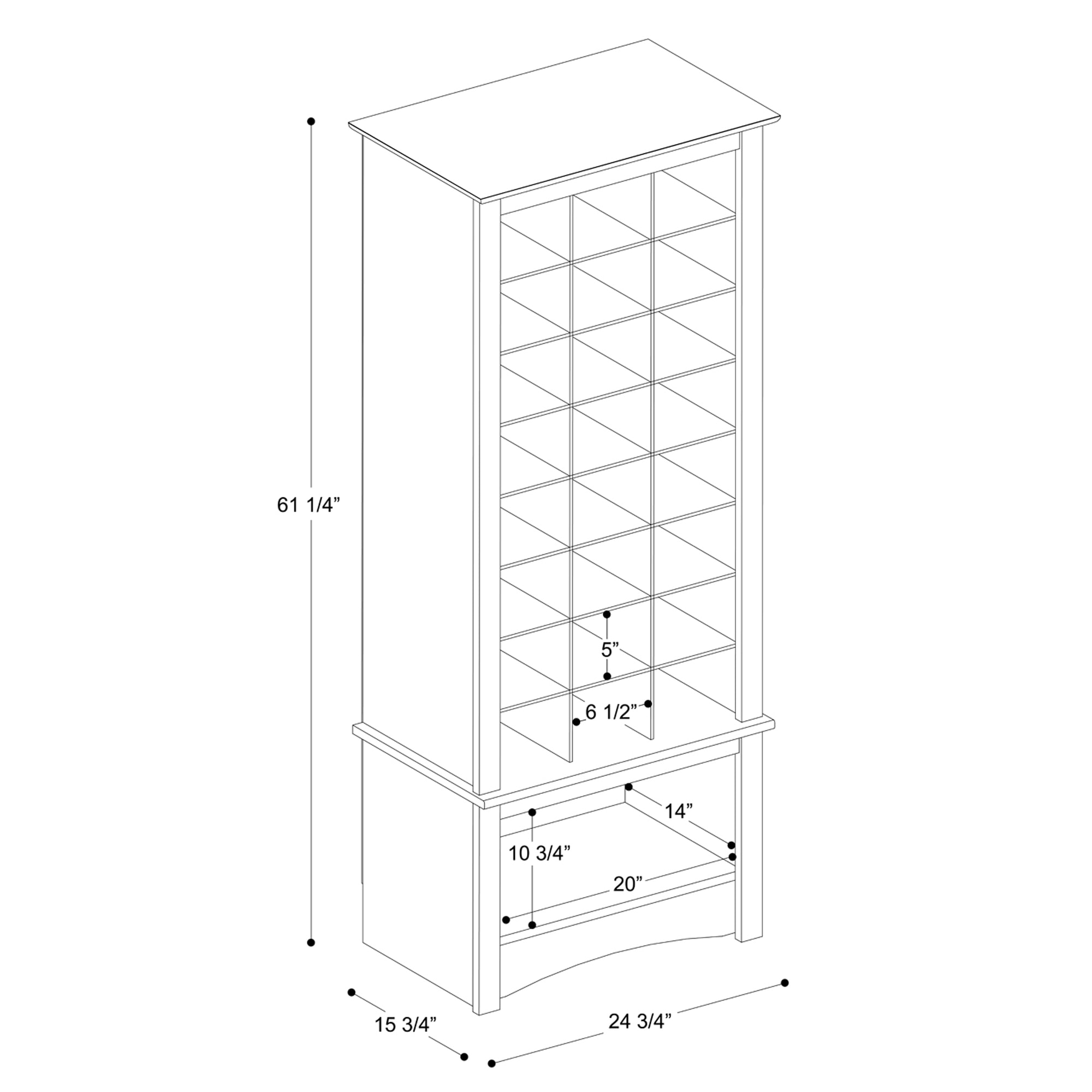 Beau Shop Prepac Espresso Tall Shoe Cubbie Cabinet   Free Shipping Today    Overstock.com   6813676