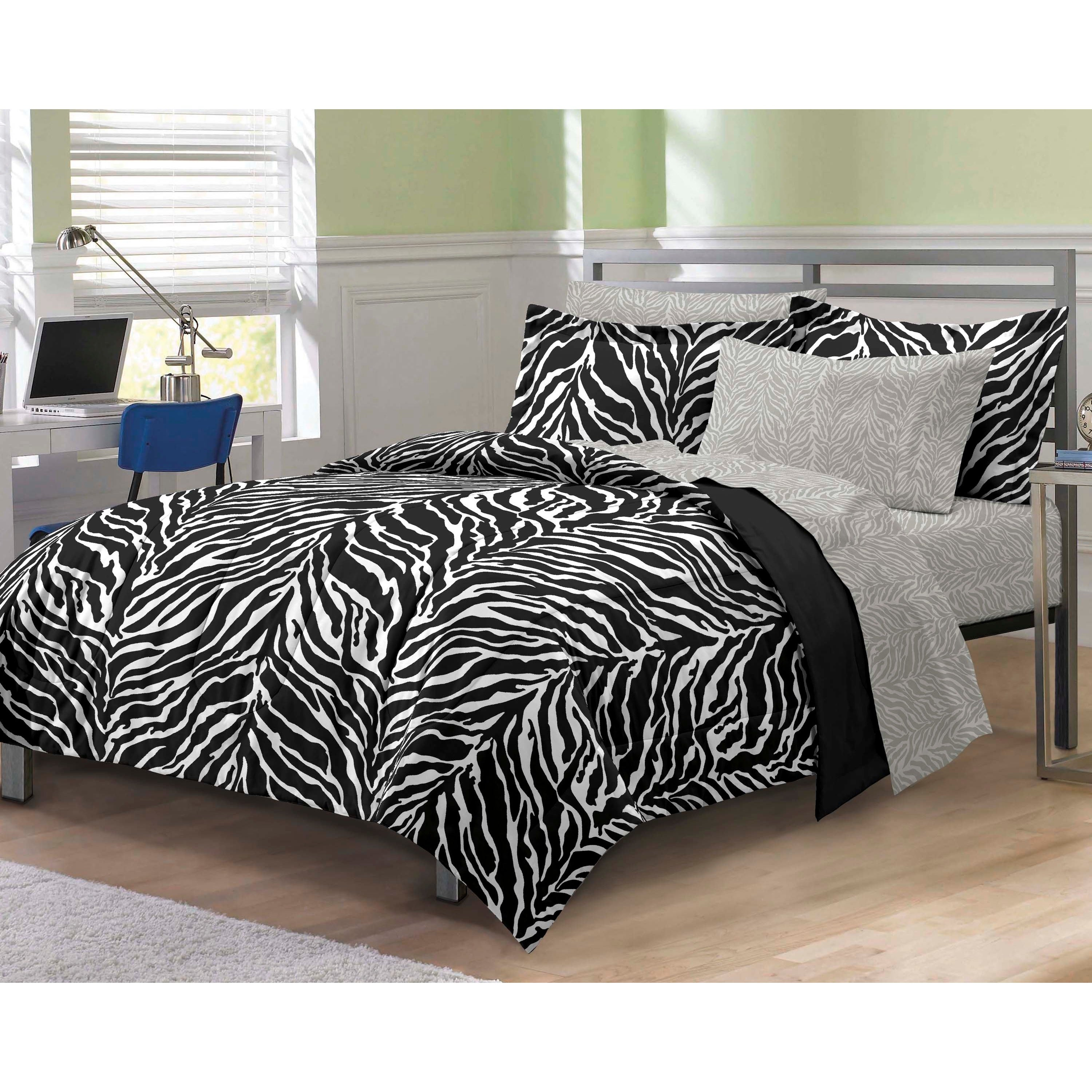 Home Interiors:Interior With Gray Bedroom Decoration Trendy Zebra Theme  1024x1024 Interior Zebra Theme Decorating