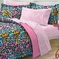 Multicolor Leopard 7-piece Bed in a Bag with Sheets Set