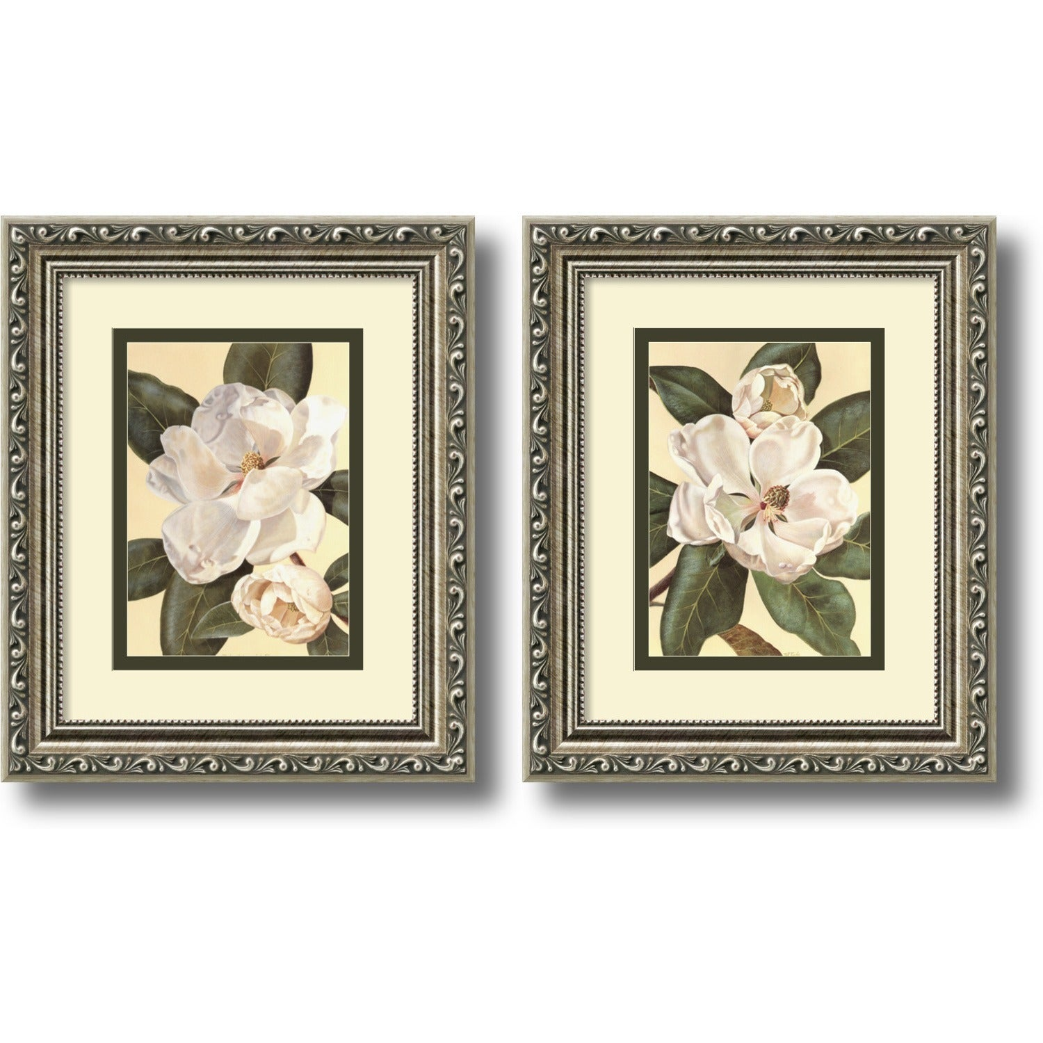 Framed Art Print \'Magnolias - set of 2\' by Waltraud Fuchs Von ...