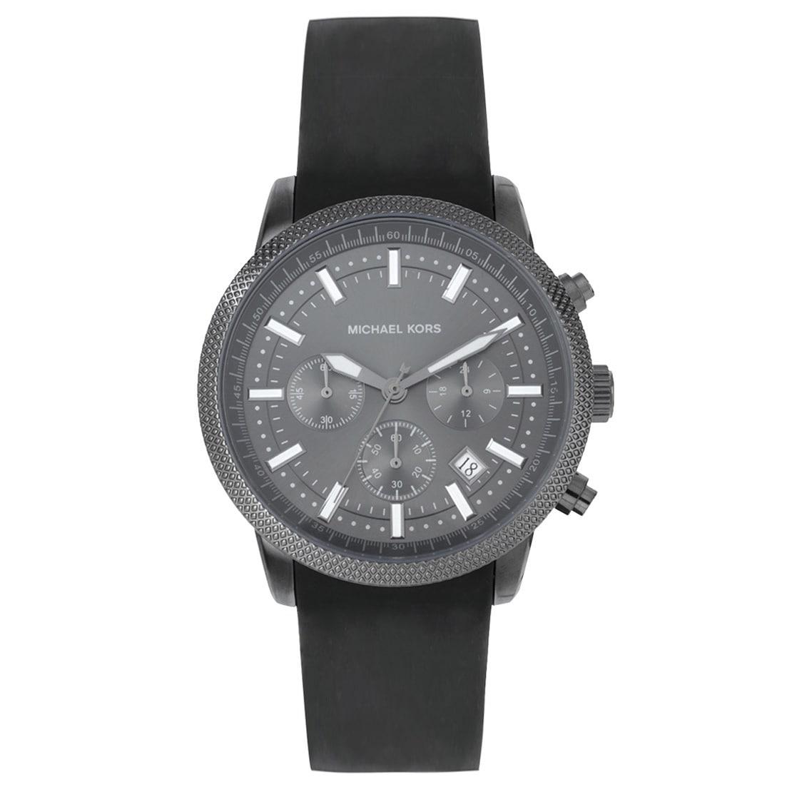 c96d1e313e4e Shop Michael Kors Men s MK8241 Scout Grey Silicone Watch - Free Shipping  Today - Overstock - 6822922