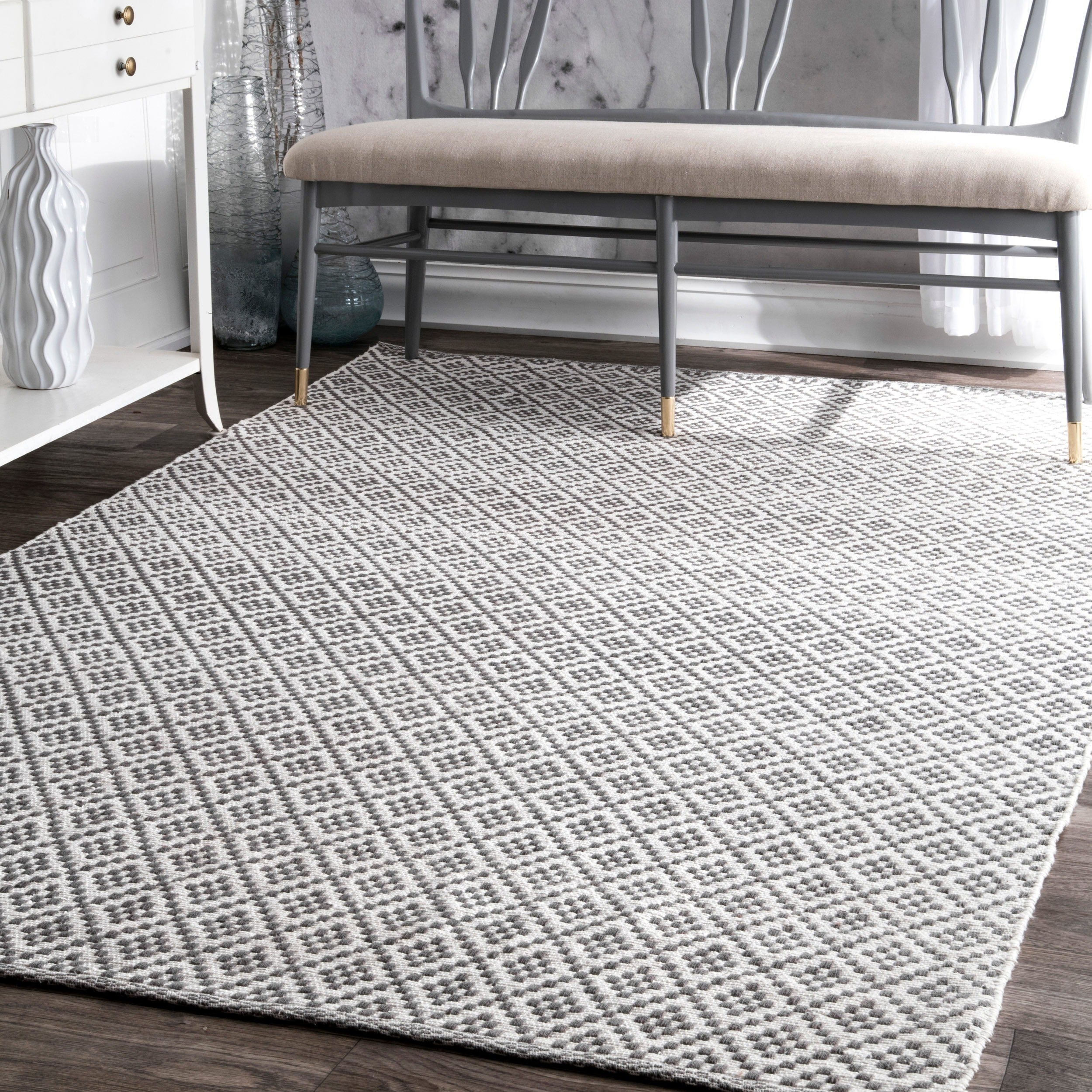 meknes trellis gold hand wool products by nuloom design area hooked in rug