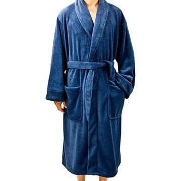 654d281493 Shop Leisureland Men s Fleece 50-inch Tie-belt Bathrobe - Free Shipping  Today - Overstock - 6834134