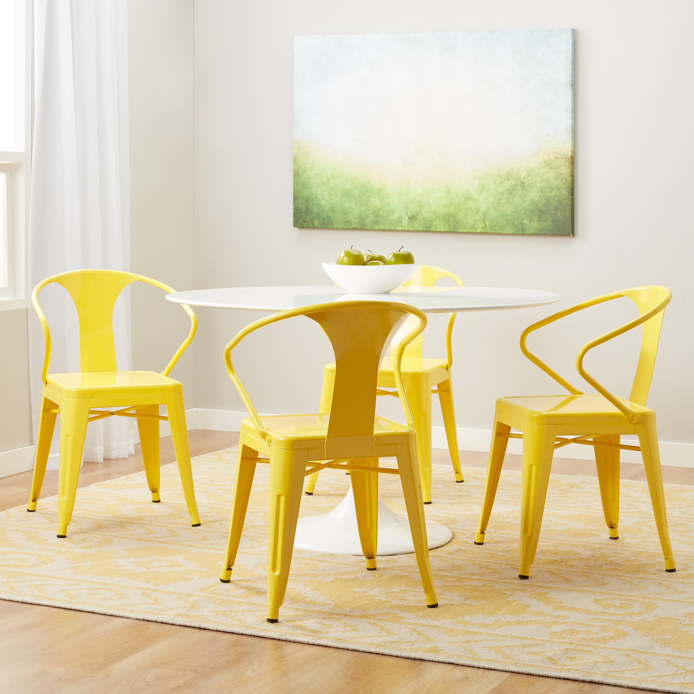 Carbon Loft Tabouret Lemon Metal Stacking Chairs Set of 4 Free