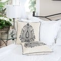 Blue Embroidered Pillows (Set of 2) by Christopher Knight Home