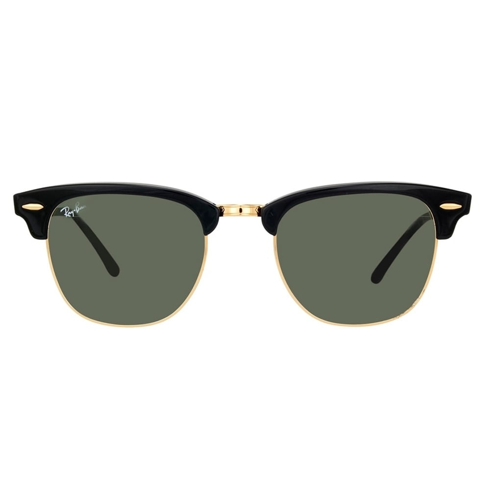 3a25310d96fbf Shop Ray-Ban Clubmaster RB3016 W0365 Black   Green G15 Unisex Sunglasses -  Free Shipping Today - Overstock - 6851767
