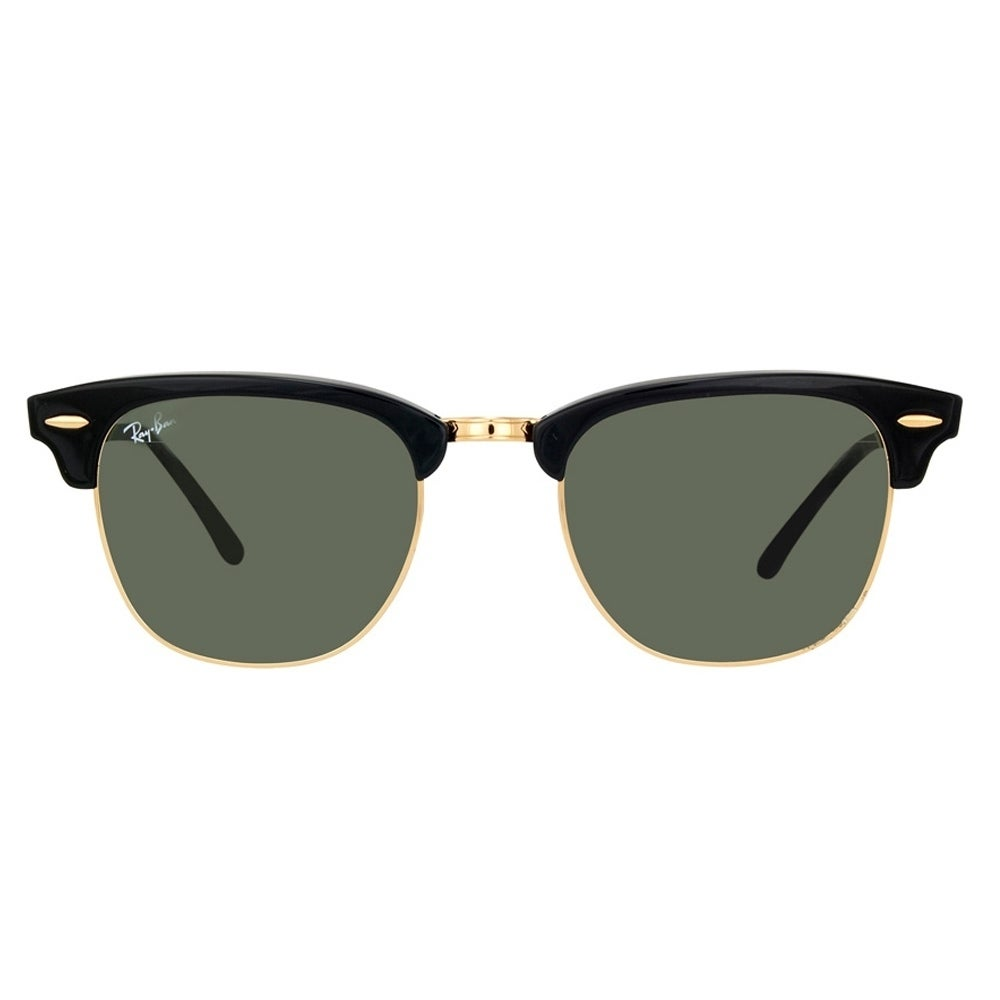 083e3d8e77e Shop Ray-Ban Clubmaster RB3016 W0365 Black   Green G15 Unisex Sunglasses -  Free Shipping Today - Overstock - 6851767